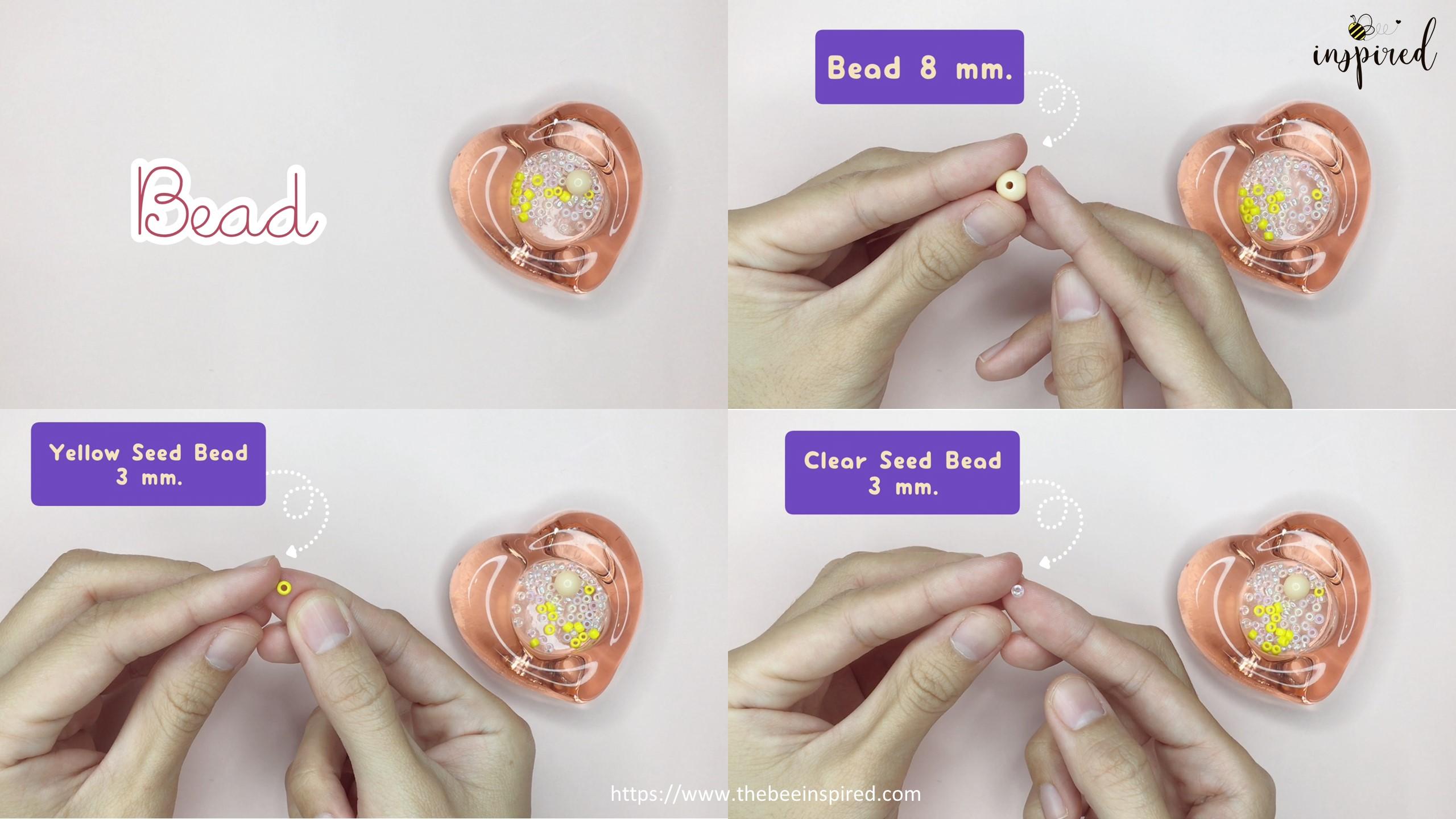 สอนร้อยแหวนลูกปัดดอกทานตะวัน ทำง่ายๆ สไตล์เกาหลี - How to Make Sunflower Beaded Ring_Equipment_1