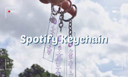 DIY Spotify Keychain (Without Cricut): วิธีทำพวงกุญแจโค้ดเพลง SPOTIFY ของขวัญง่ายๆ ทำให้แฟน