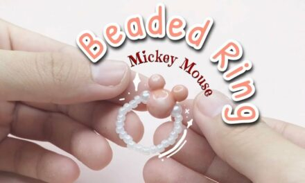 How to Make Mickey Mouse Beaded Ring – วิธีทำแหวนลูกปัดมิกกี้เมาส์ง่ายๆ สไตล์เกาหลี