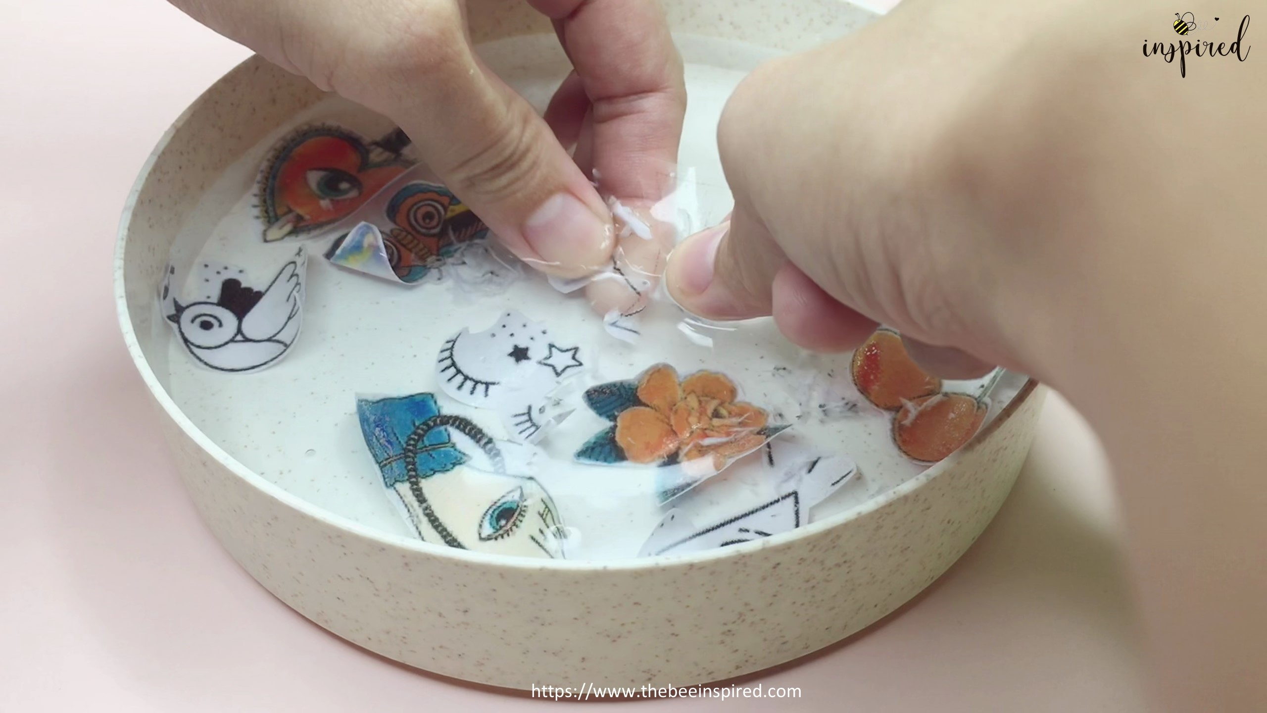 How to Make Sticker from Paper _ Clear Packaging Tape_12