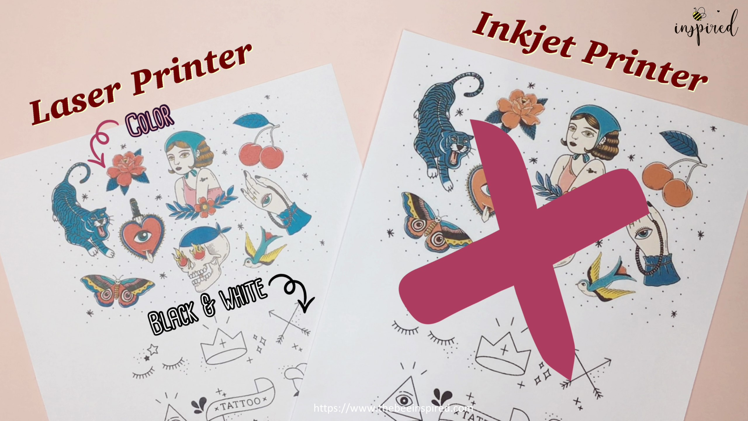 How to Make Sticker from Paper _ Clear Packaging Tape_14