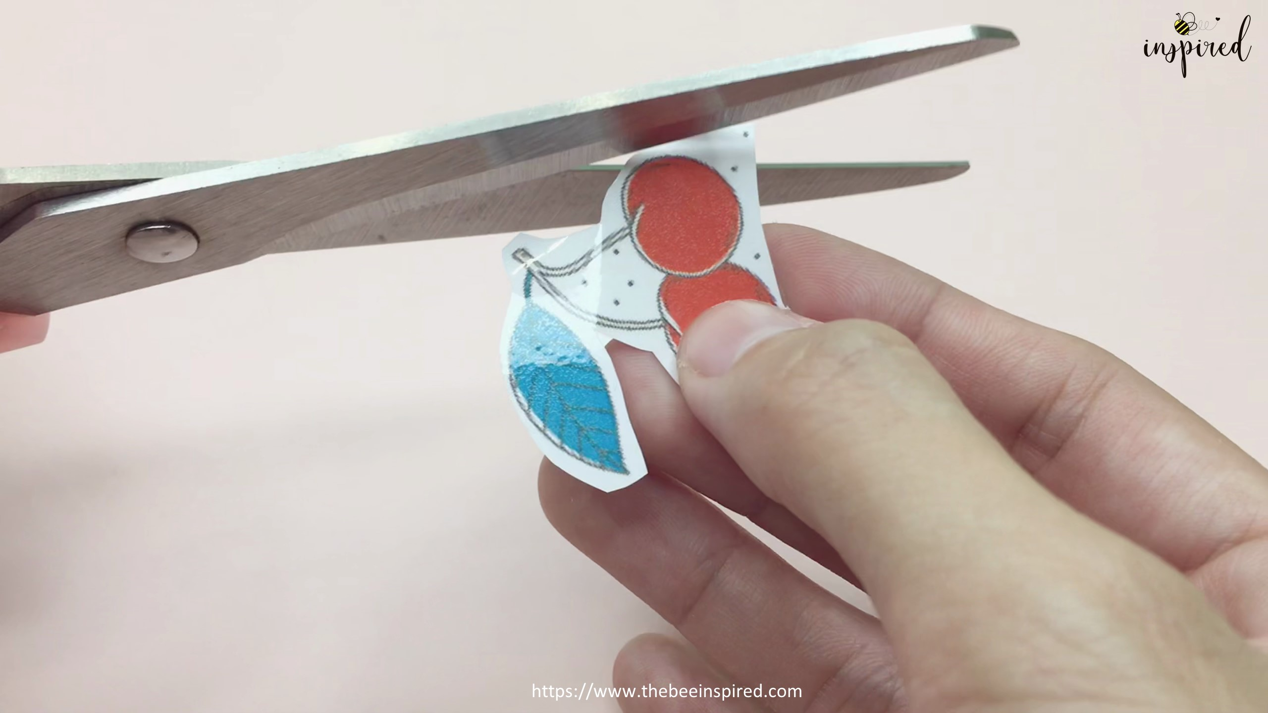 How to Make Sticker from Paper _ Clear Packaging Tape_4