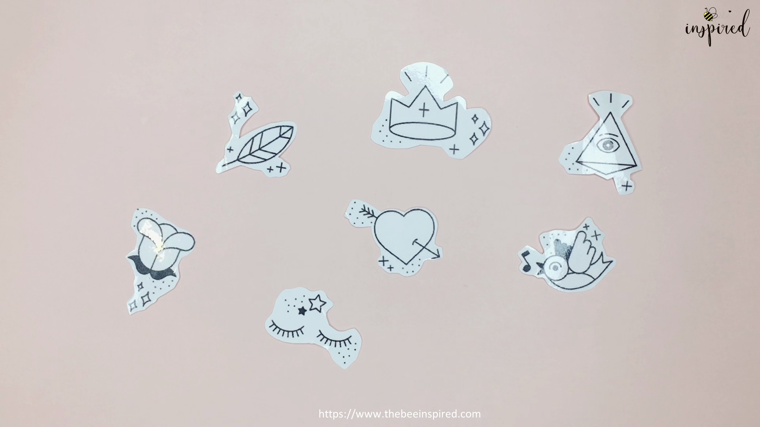 How to Make Sticker from Paper _ Clear Packaging Tape_6