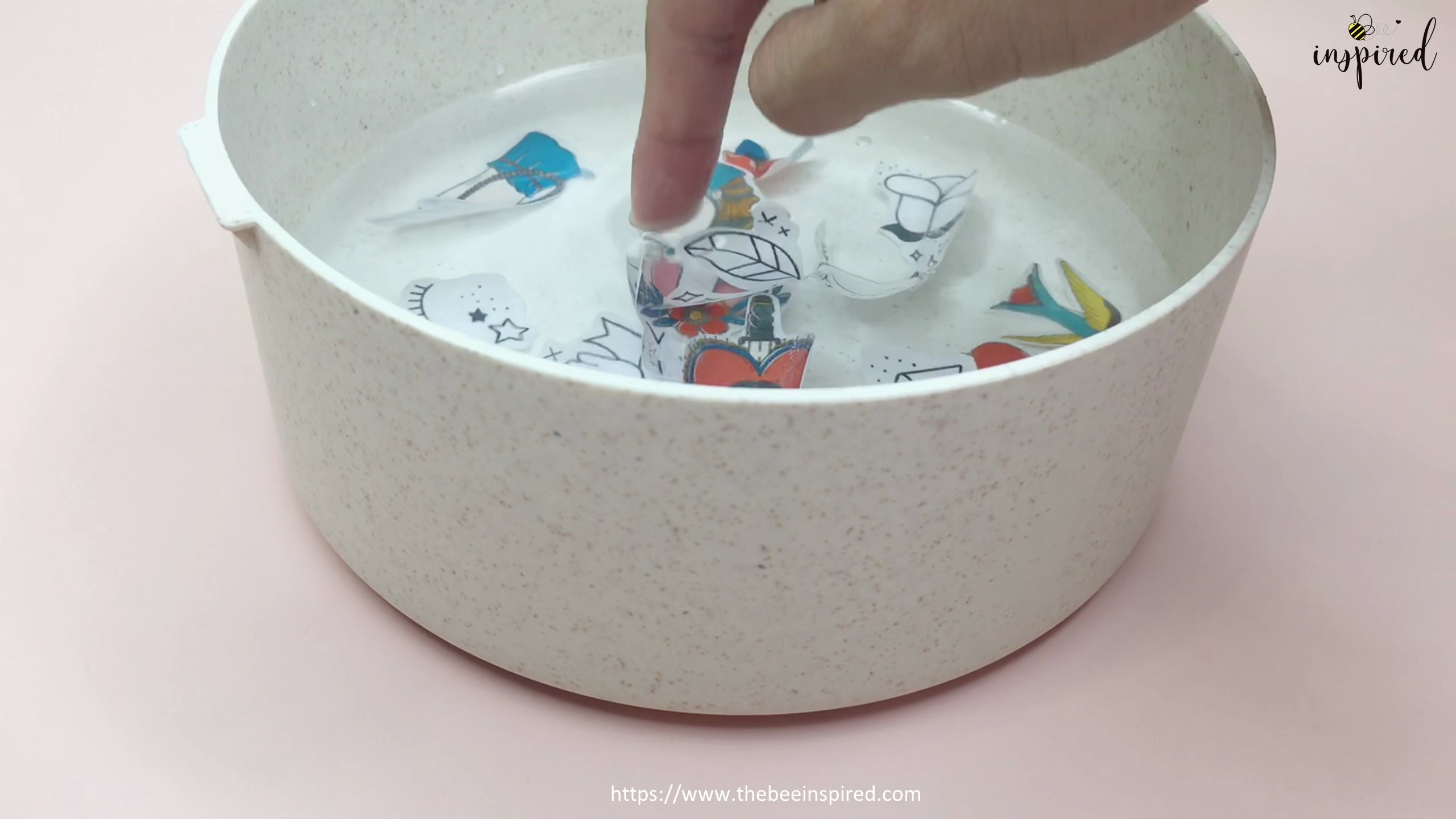 How to Make Sticker from Paper _ Clear Packaging Tape_8