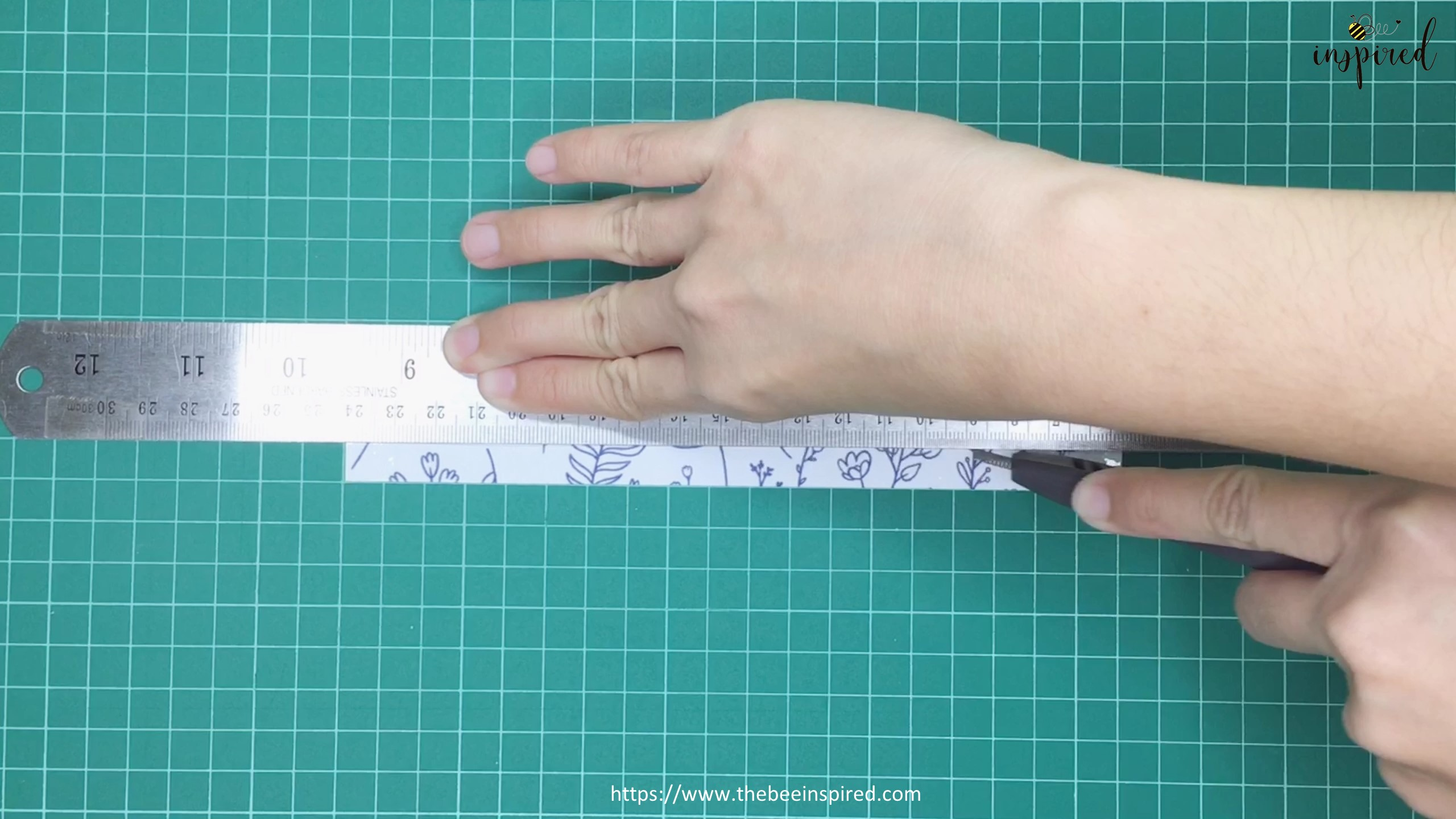 How to Make Washi Tape Masking Tape without Double Sided Tape_11