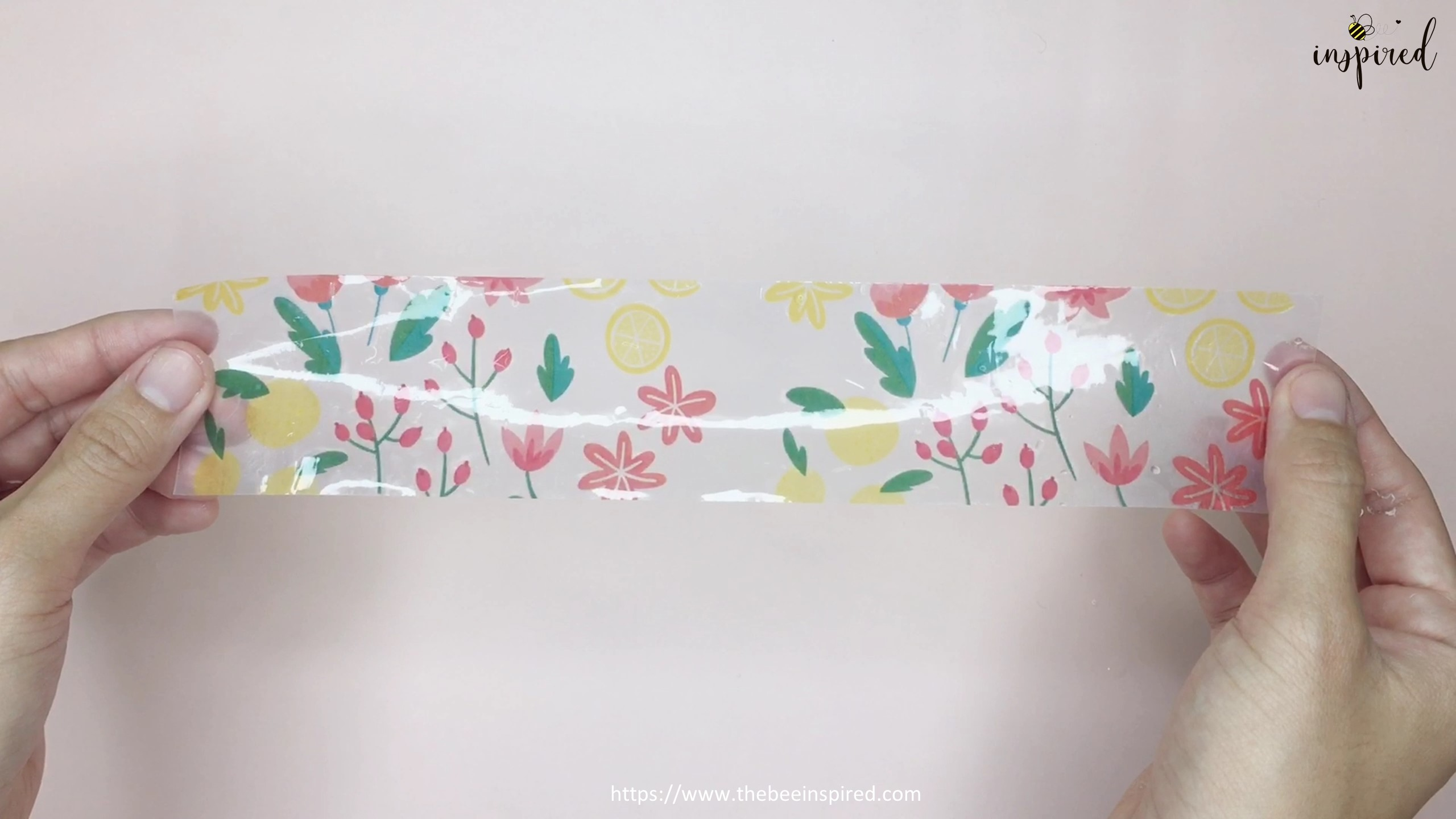 How to Make Washi Tape Masking Tape without Double Sided Tape_8