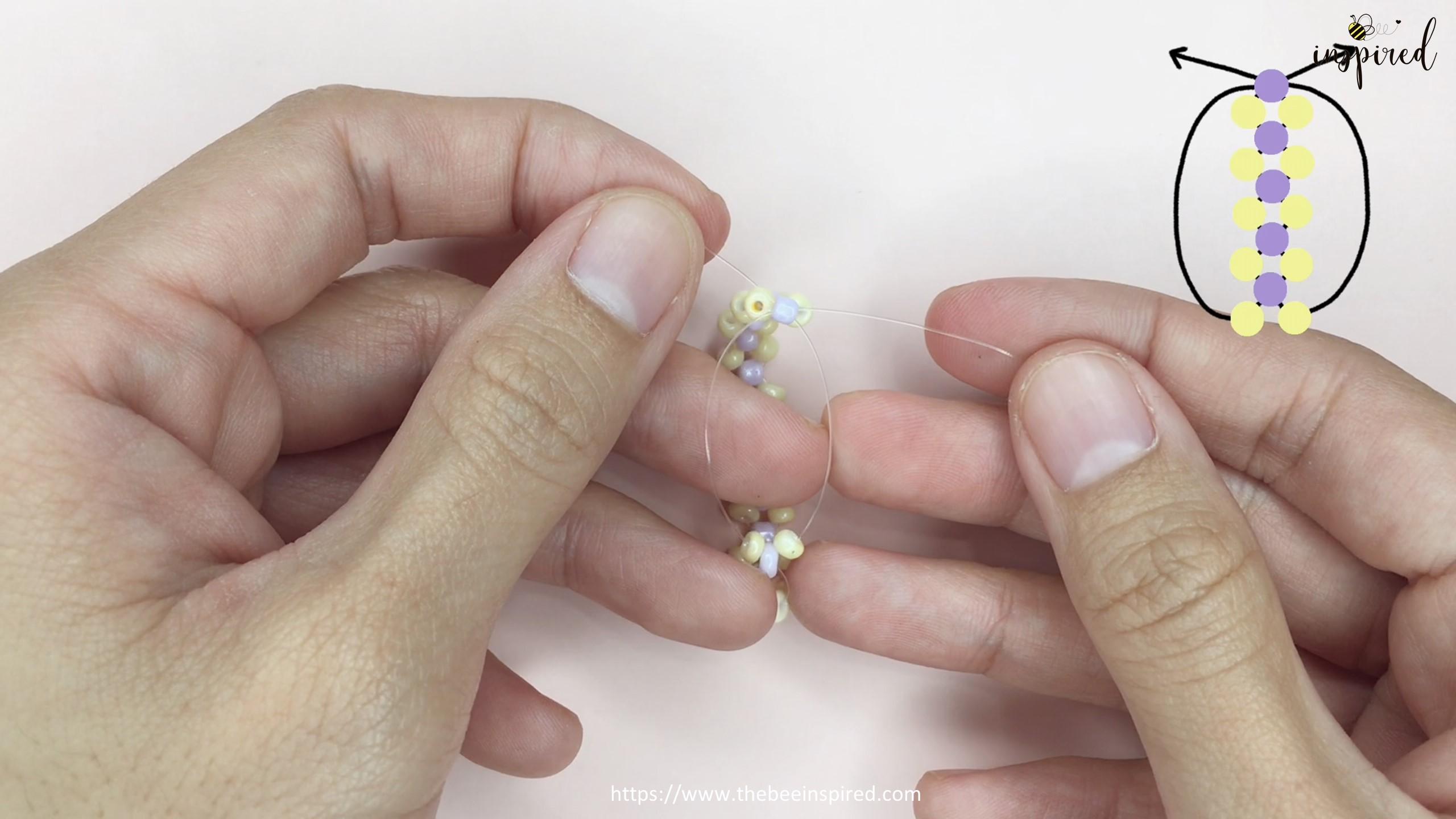 วิธีร้อยแหวนลูกปัดง่ายๆ สไตล์เกาหลี - How to Make Beaded Ring_15