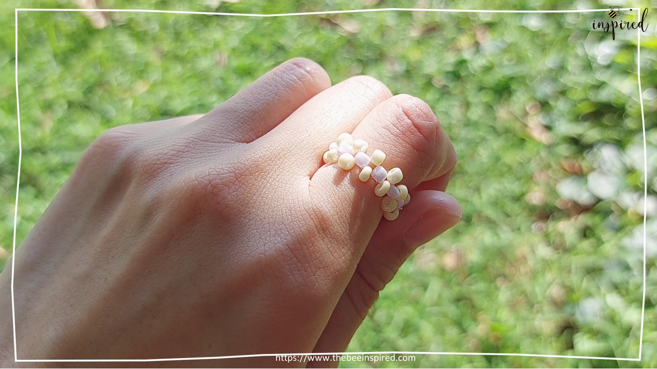 วิธีร้อยแหวนลูกปัดง่ายๆ สไตล์เกาหลี - How to Make Beaded Ring_23