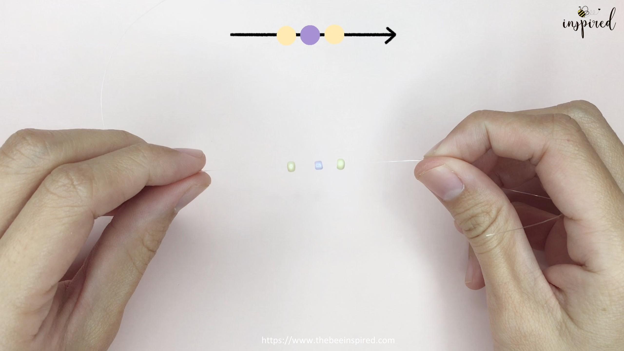 วิธีร้อยแหวนลูกปัดง่ายๆ สไตล์เกาหลี - How to Make Beaded Ring_4