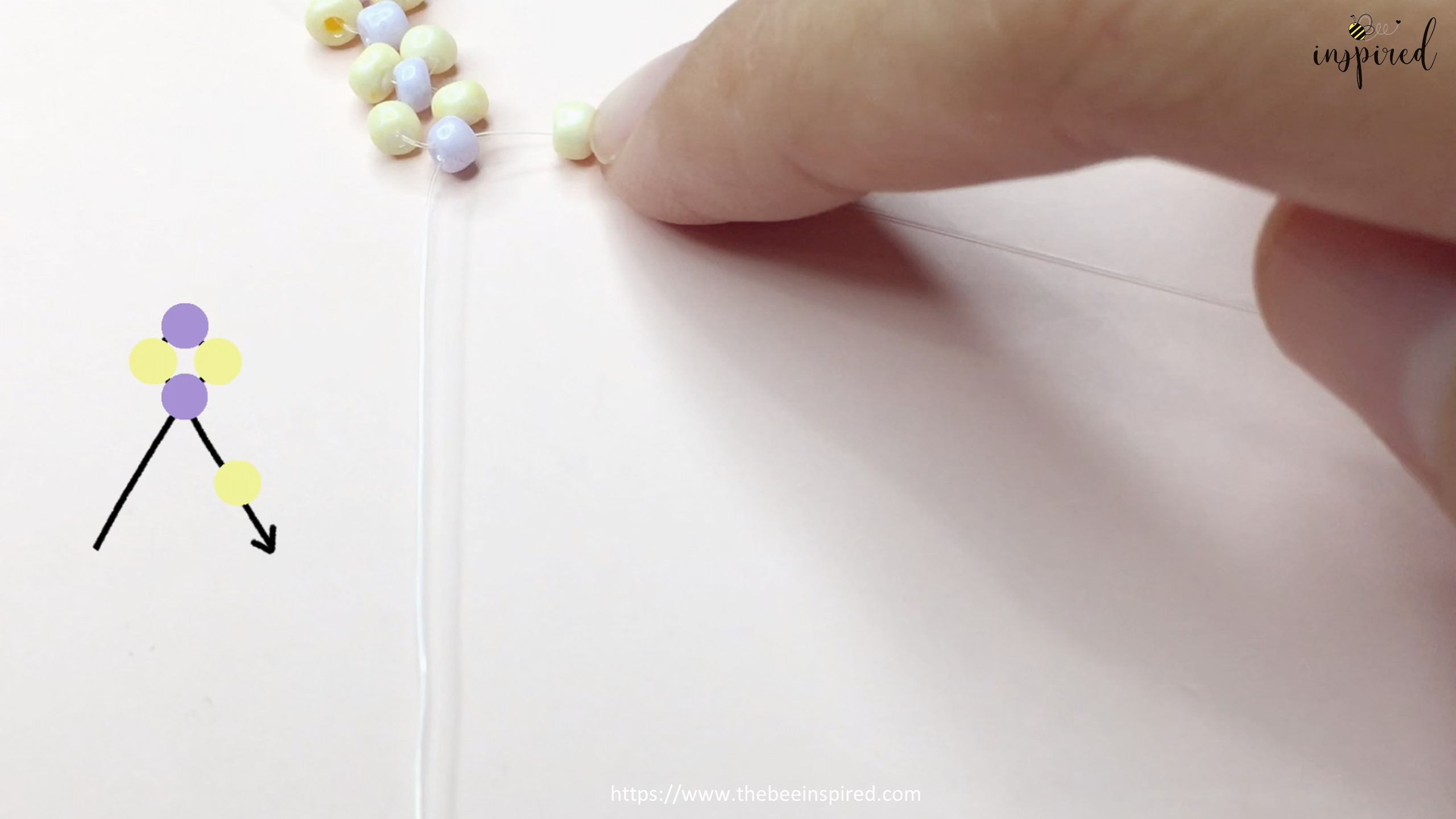 วิธีร้อยแหวนลูกปัดง่ายๆ สไตล์เกาหลี - How to Make Beaded Ring_8