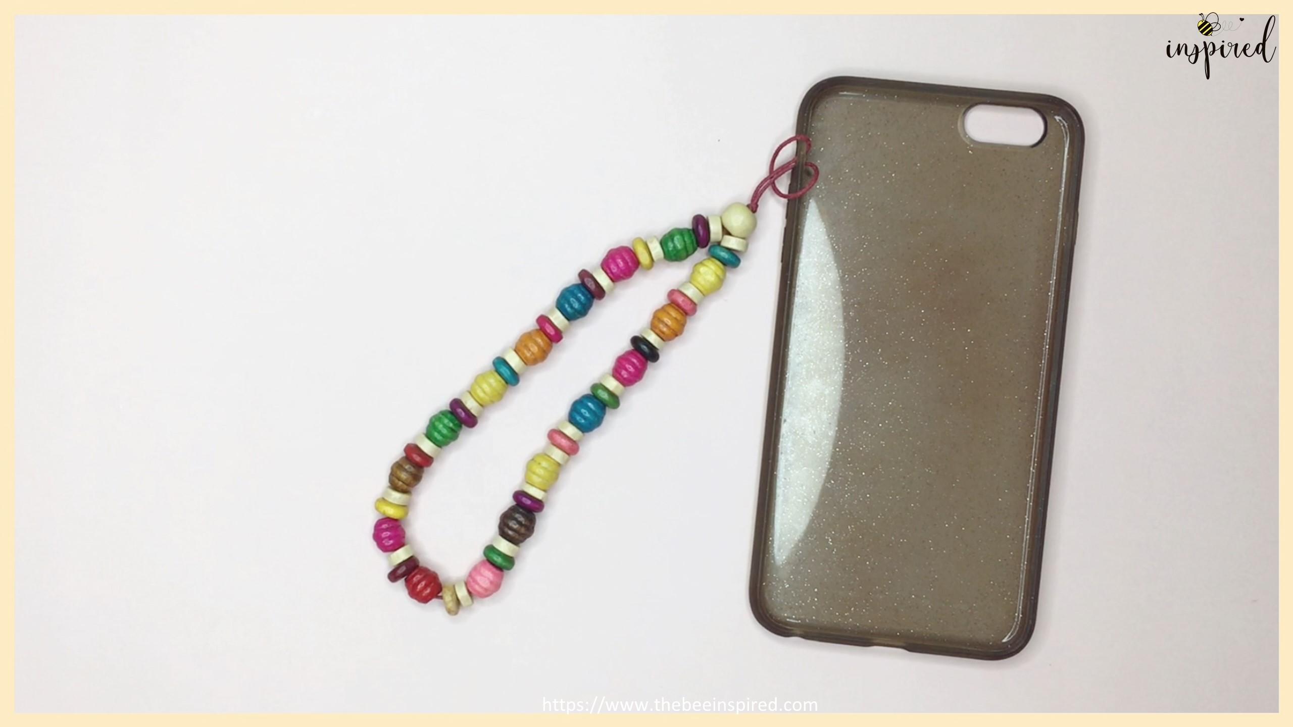 สอนทำพวงกุญแจลูกปัดห้อยโทรศัพท์ง่ายๆ อุปกรณ์แค่ 3 อย่าง - DIY Beaded Phone Charms (Easy Version) - Phone Strap - Phone Keychain_21