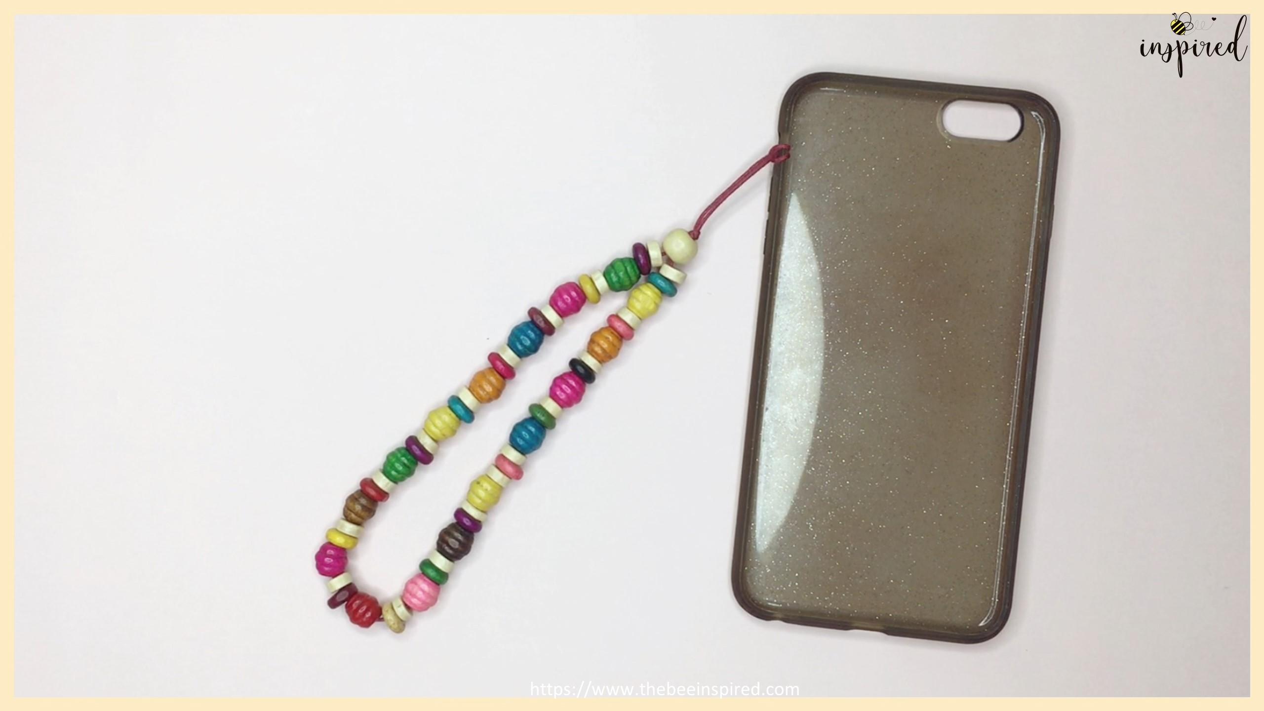 สอนทำพวงกุญแจลูกปัดห้อยโทรศัพท์ง่ายๆ อุปกรณ์แค่ 3 อย่าง - DIY Beaded Phone Charms (Easy Version) - Phone Strap - Phone Keychain_22