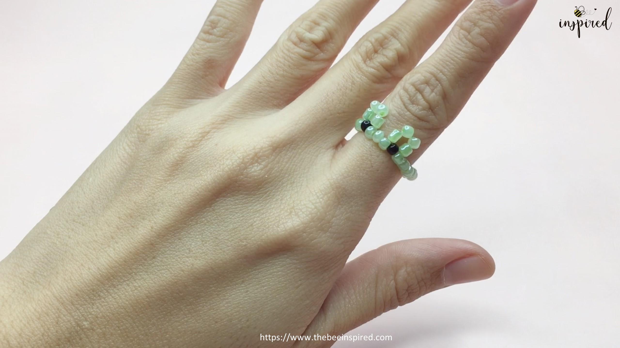 สอนร้อยแหวนลูกปัดลายกบ Kero ทำง่ายๆ สไตล์เกาหลี - How to Make Kero Frog Beaded Ring_16