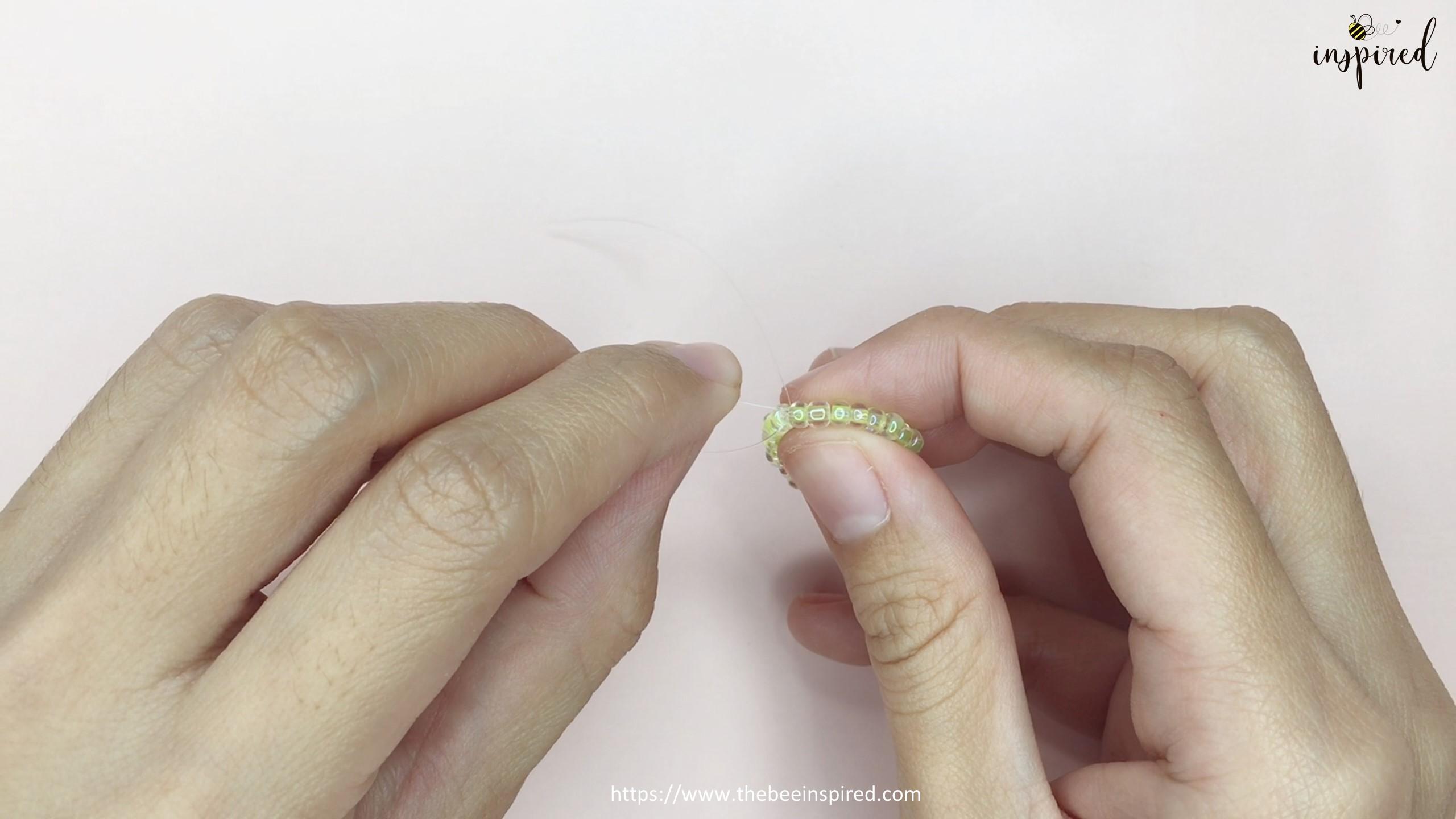 สอนร้อยแหวนลูกปัดลายเห็ด ทำง่ายๆ สไตล์เกาหลี - How to Make Mushroom Beaded Ring_12