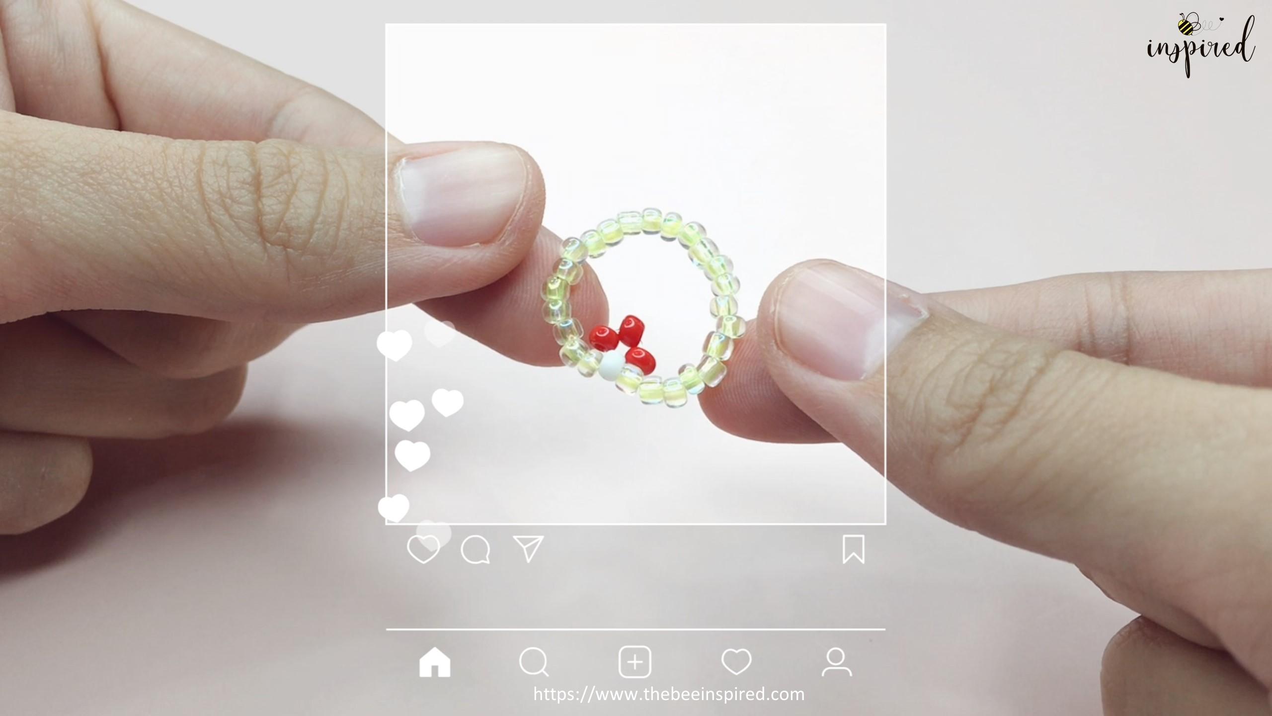 สอนร้อยแหวนลูกปัดลายเห็ด ทำง่ายๆ สไตล์เกาหลี - How to Make Mushroom Beaded Ring_15