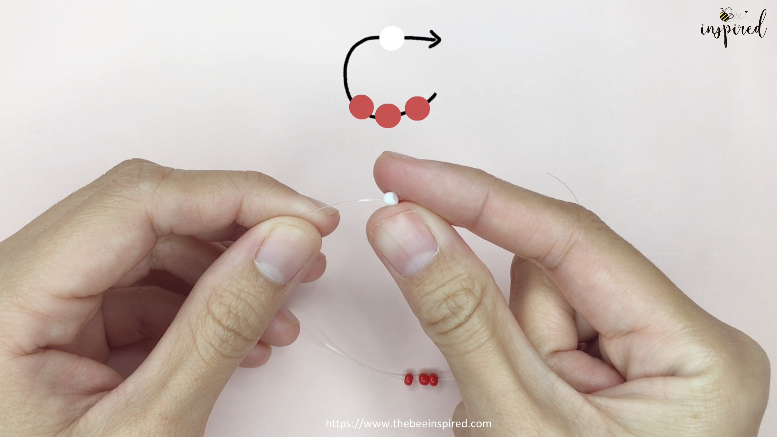 สอนร้อยแหวนลูกปัดลายเห็ด ทำง่ายๆ สไตล์เกาหลี - How to Make Mushroom Beaded Ring_4