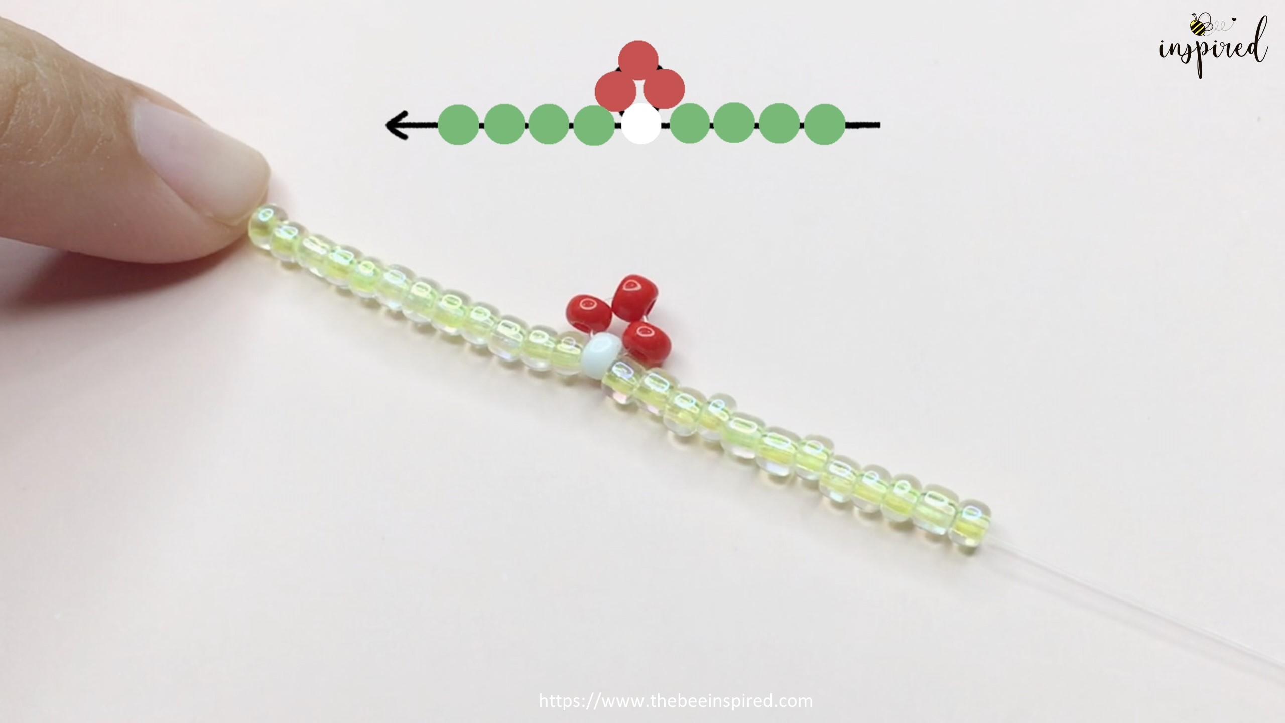 สอนร้อยแหวนลูกปัดลายเห็ด ทำง่ายๆ สไตล์เกาหลี - How to Make Mushroom Beaded Ring_9