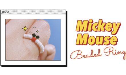 HOW TO MAKE MICKEY MOUSE BEADED RING: สอนทำแหวนลูกปัดมิกกี้เมาส์ง่ายๆ สไตล์เกาหลี