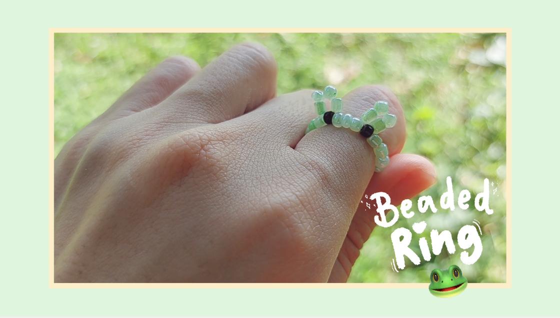 How to Make Kero Frog Beaded Ring: สอนร้อยแหวนลูกปัดลายกบ KERO ทำง่ายๆ สไตล์เกาหลี