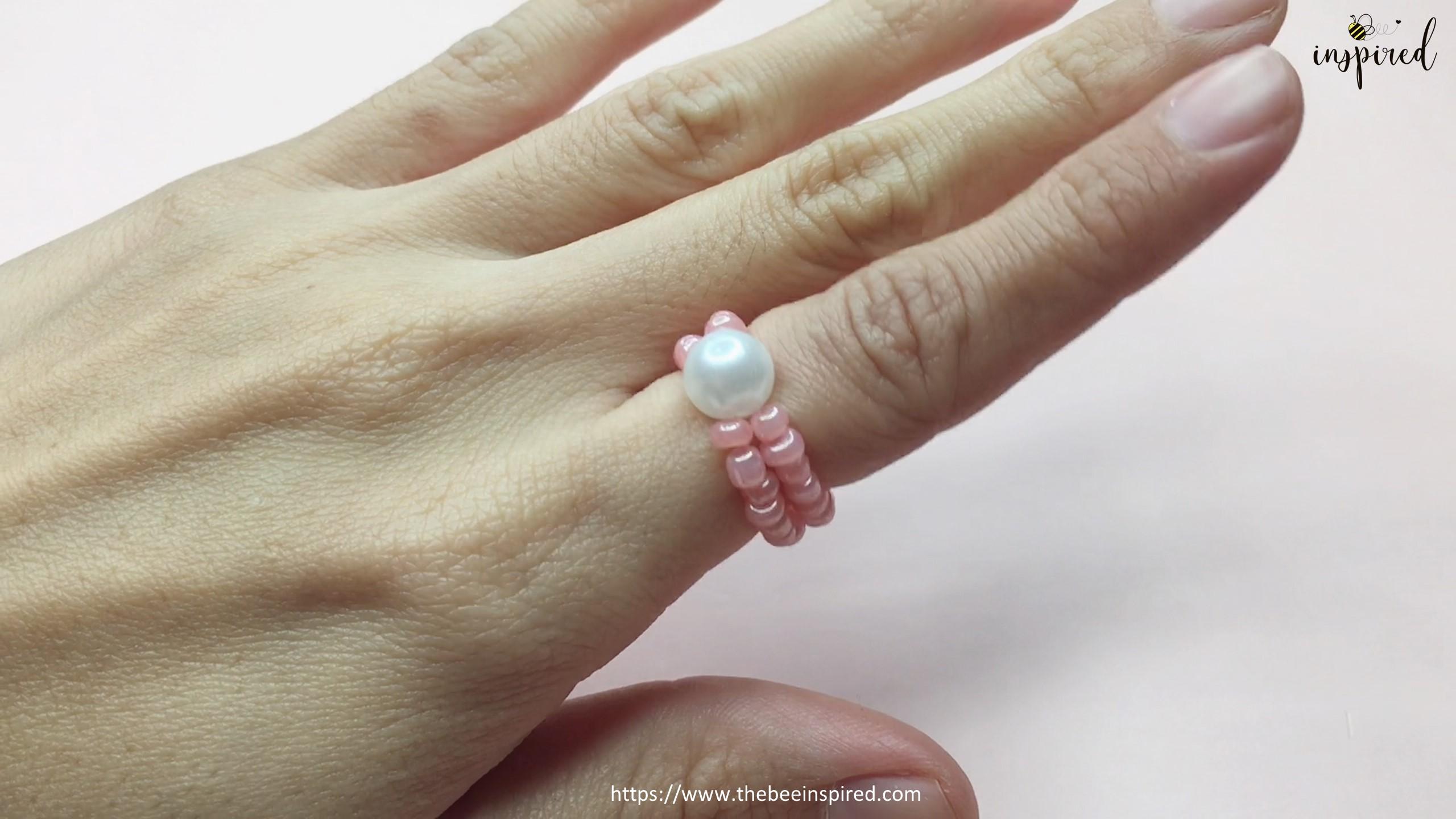 Easy DIY Beaded Ring วิธีทำแหวนลูกปัดง่ายๆ สไตล์เกาหลี_20