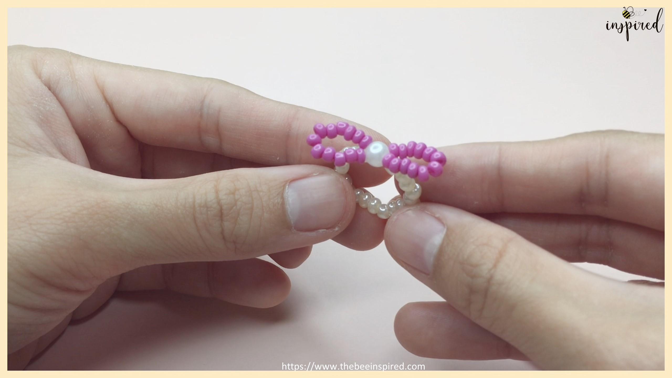 HOW TO MAKE BOWKNOT RIBBON BEADED RING สอนทำแหวนลูกปัดโบว์ง่ายๆ_16