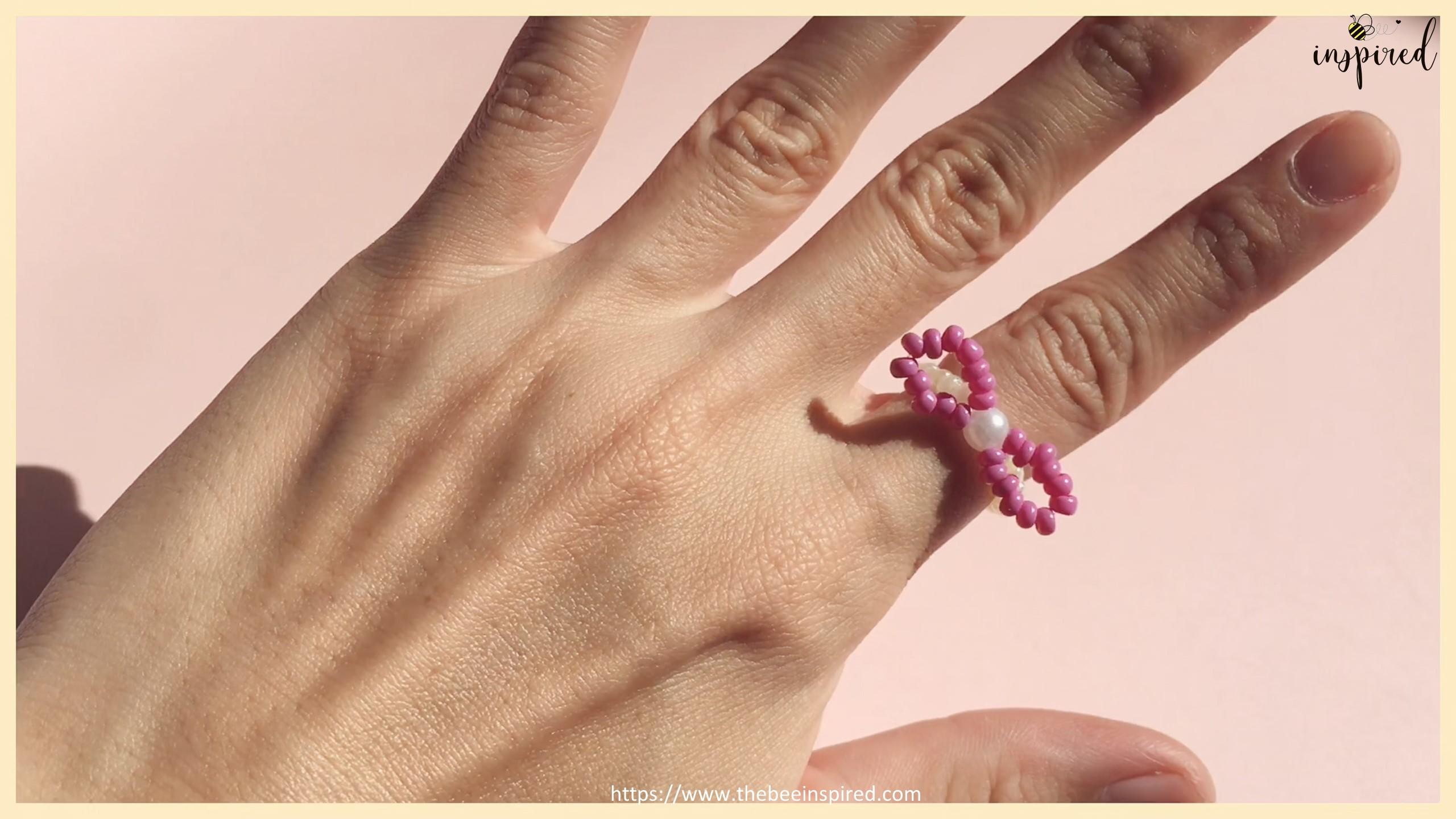 HOW TO MAKE BOWKNOT RIBBON BEADED RING สอนทำแหวนลูกปัดโบว์ง่ายๆ_17