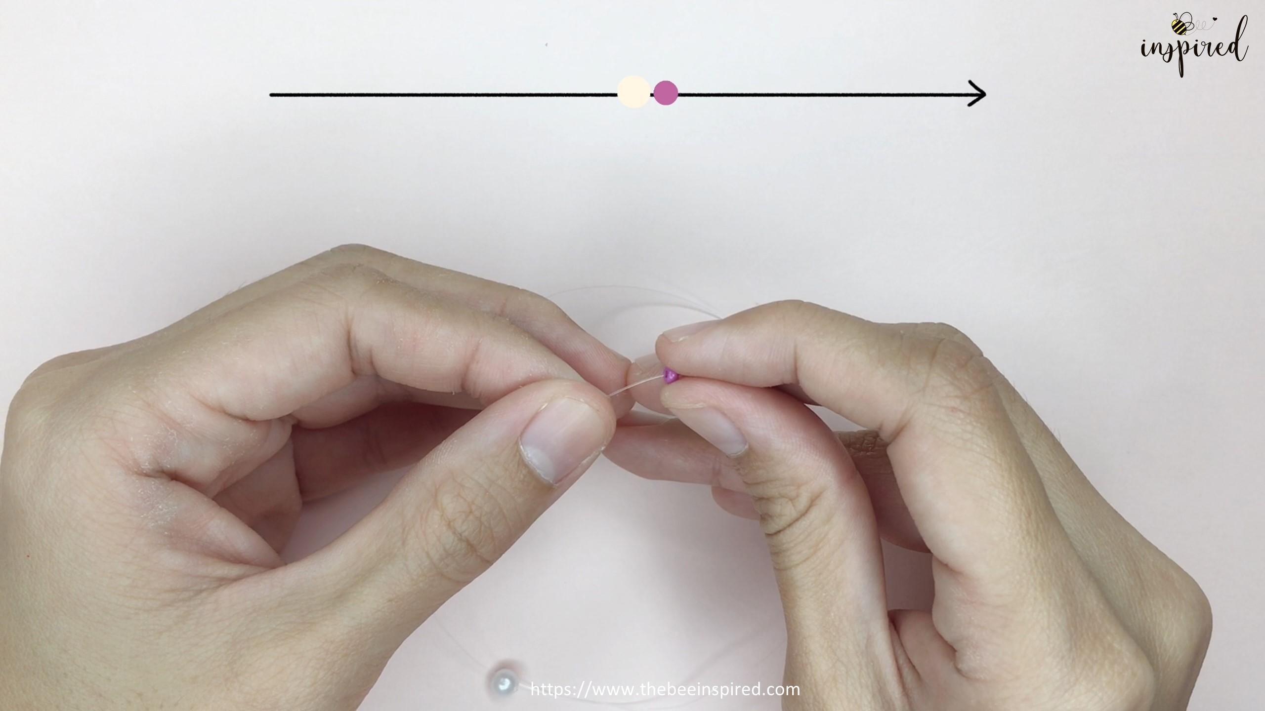 HOW TO MAKE BOWKNOT RIBBON BEADED RING สอนทำแหวนลูกปัดโบว์ง่ายๆ_2