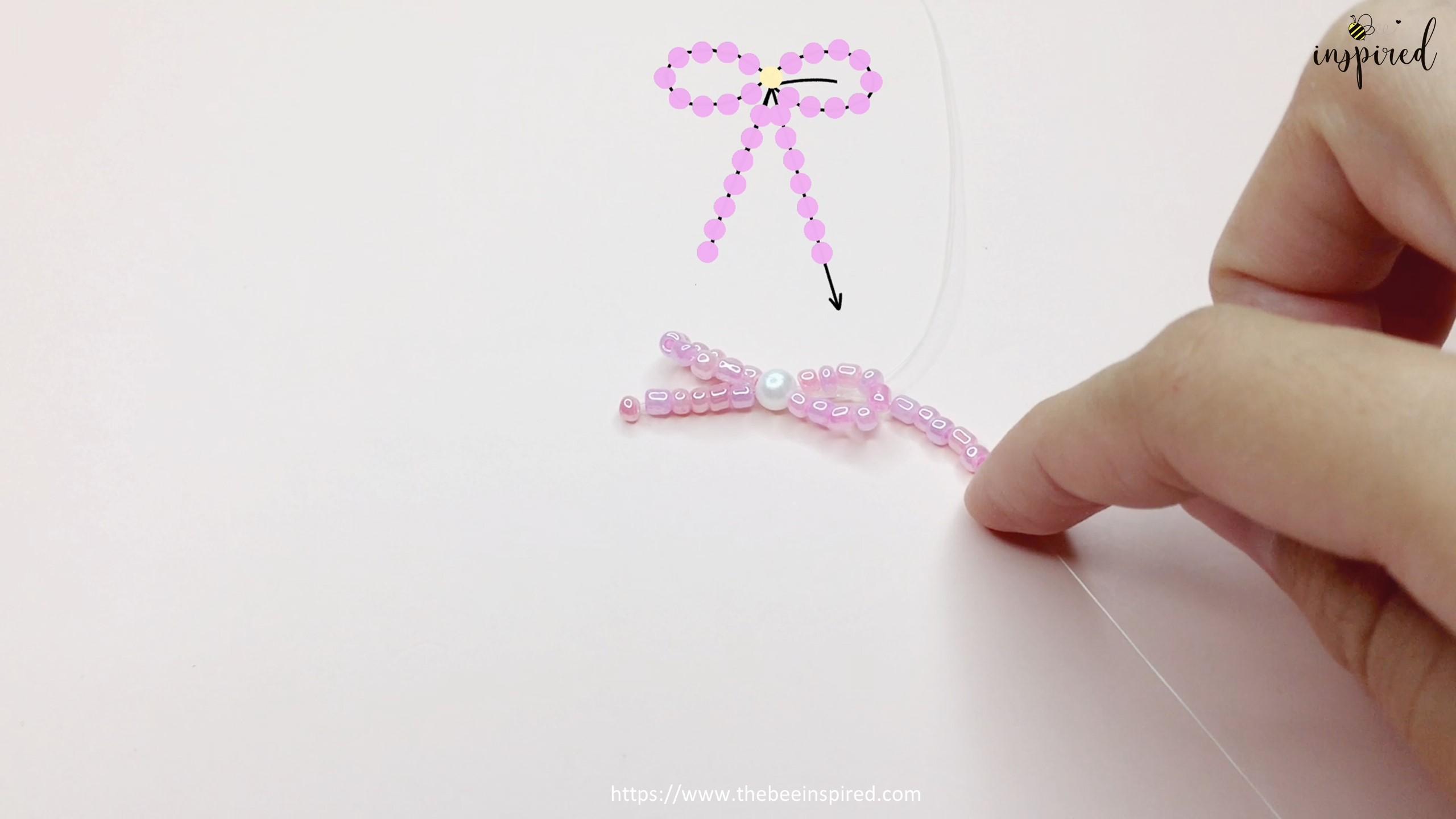 How to Make Bowknot Ribbon Beaded Ring_11