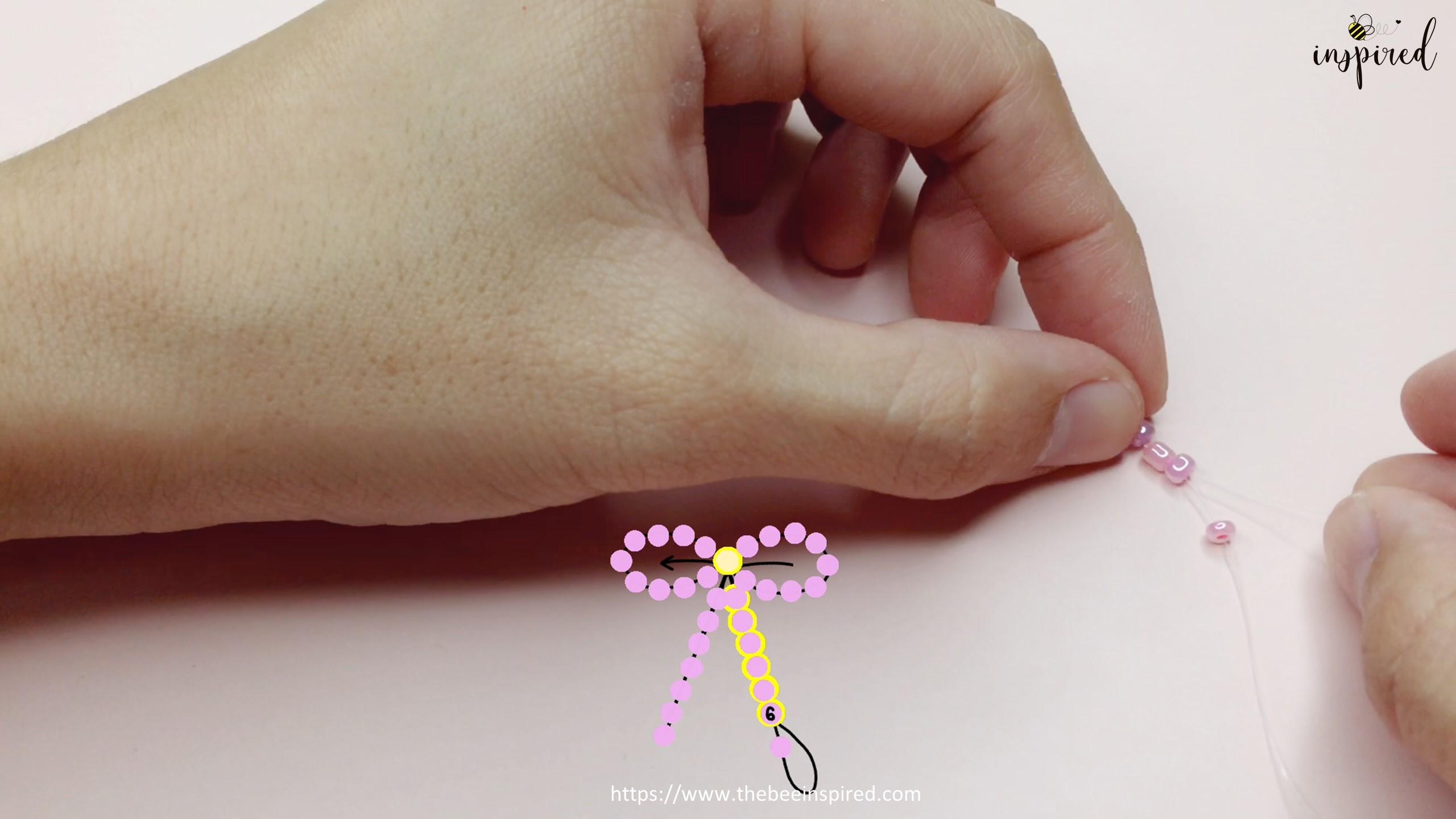 How to Make Bowknot Ribbon Beaded Ring_12