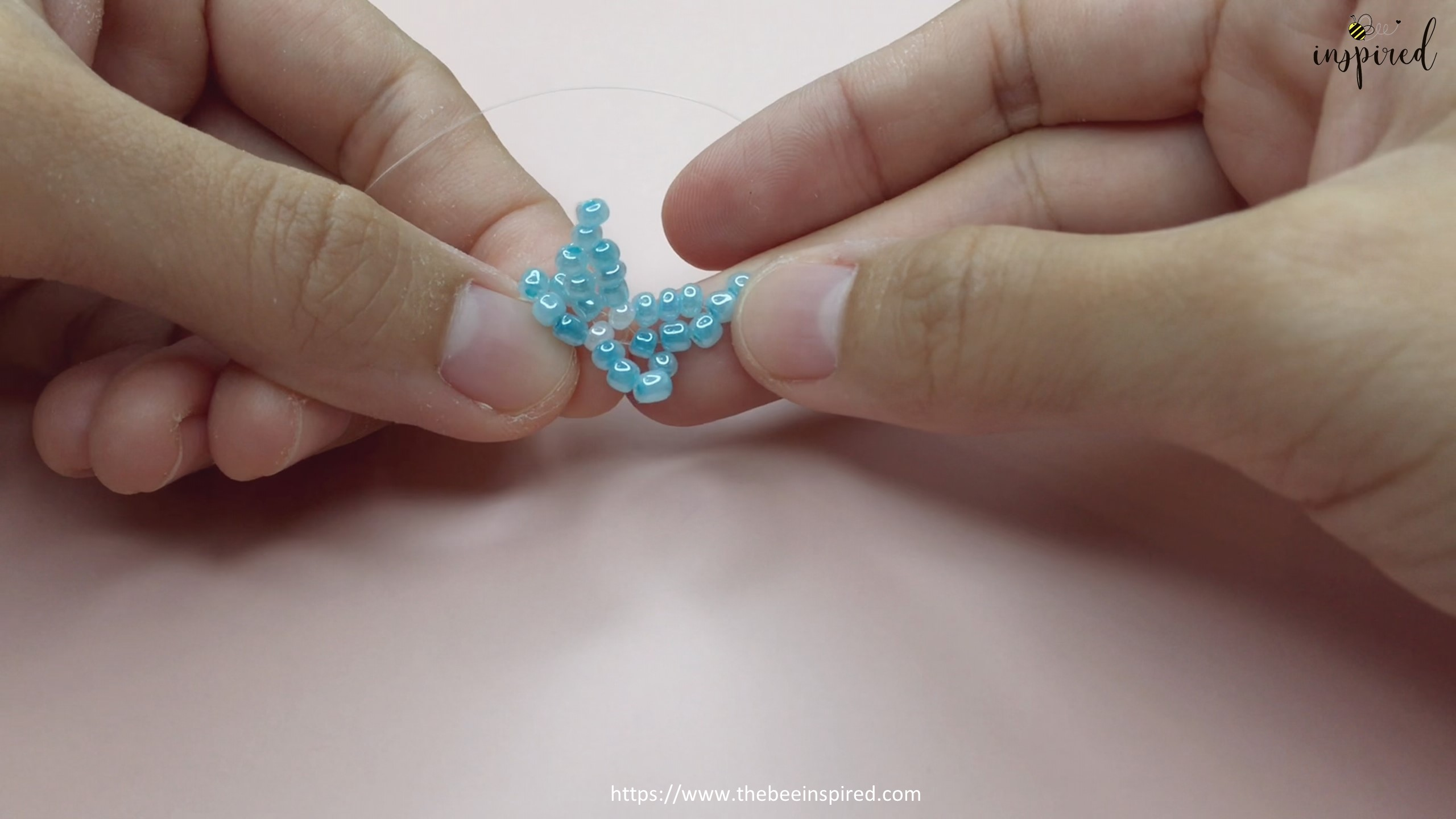 How to Make Butterfly Beaded Ring_32