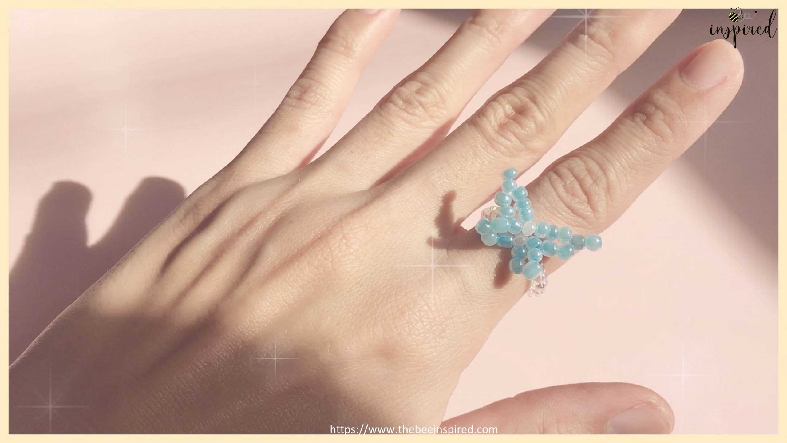How to Make Butterfly Beaded Ring_41