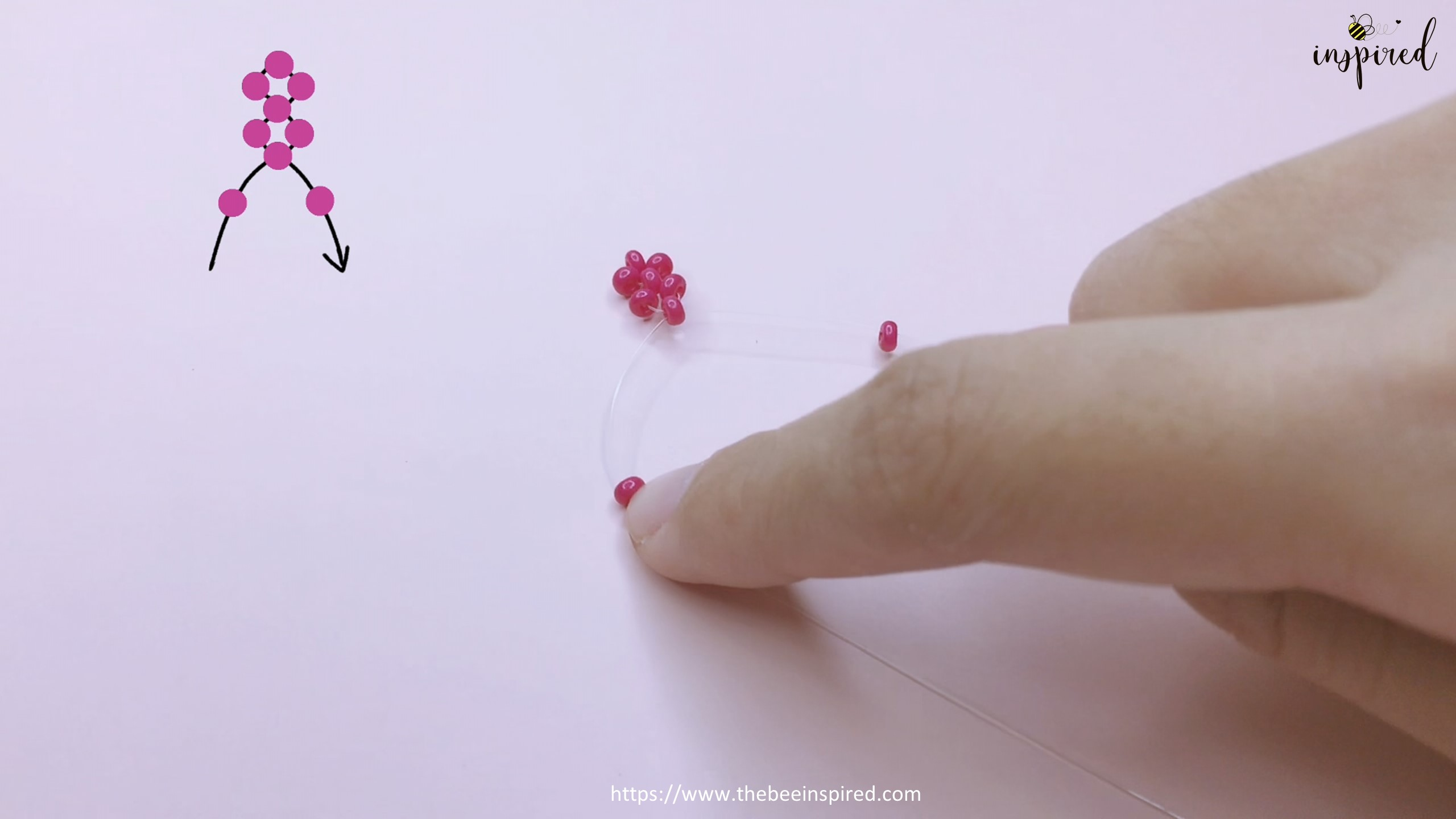 How to Make Cherry Beaded Ring_11