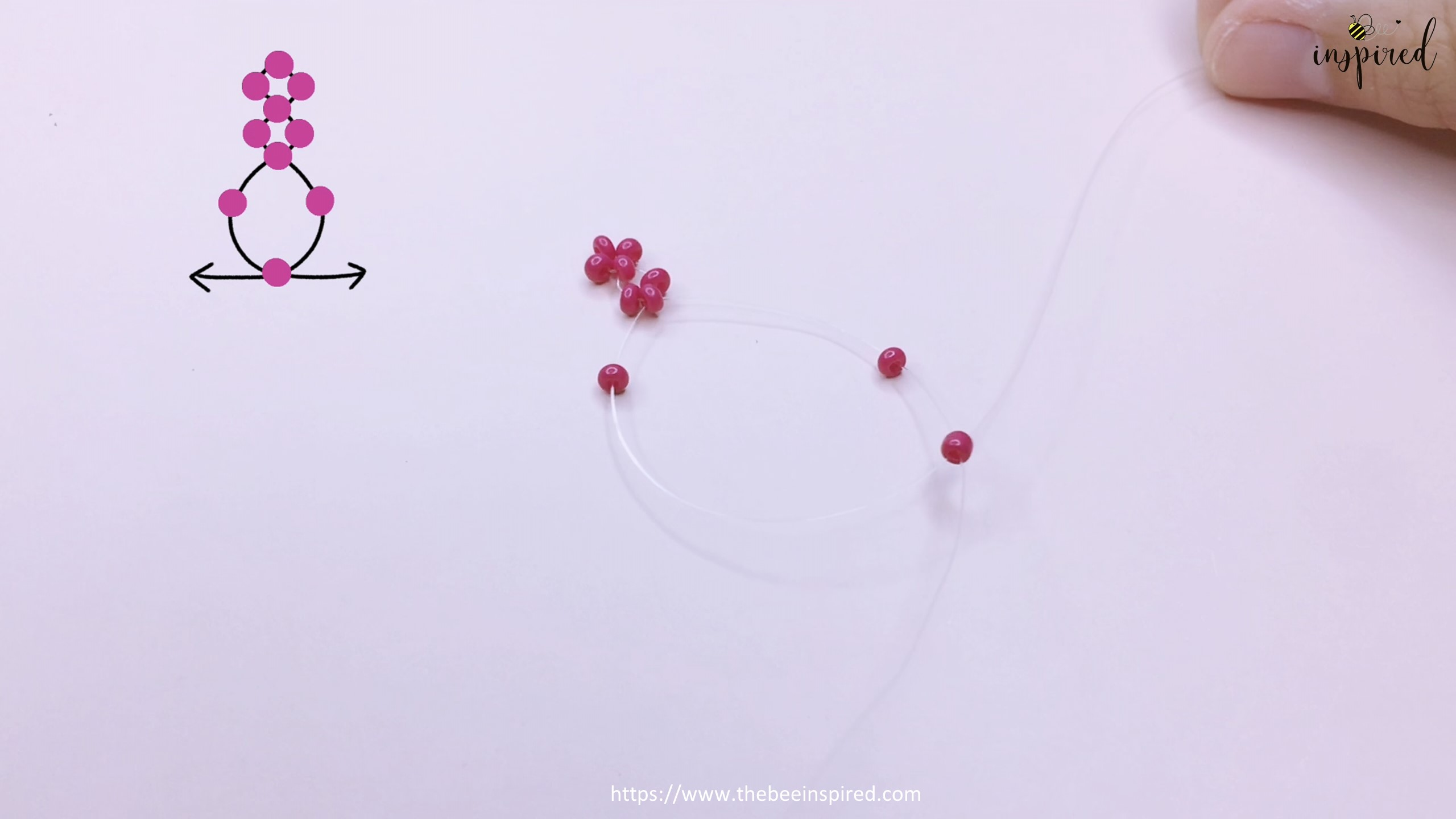 How to Make Cherry Beaded Ring_12