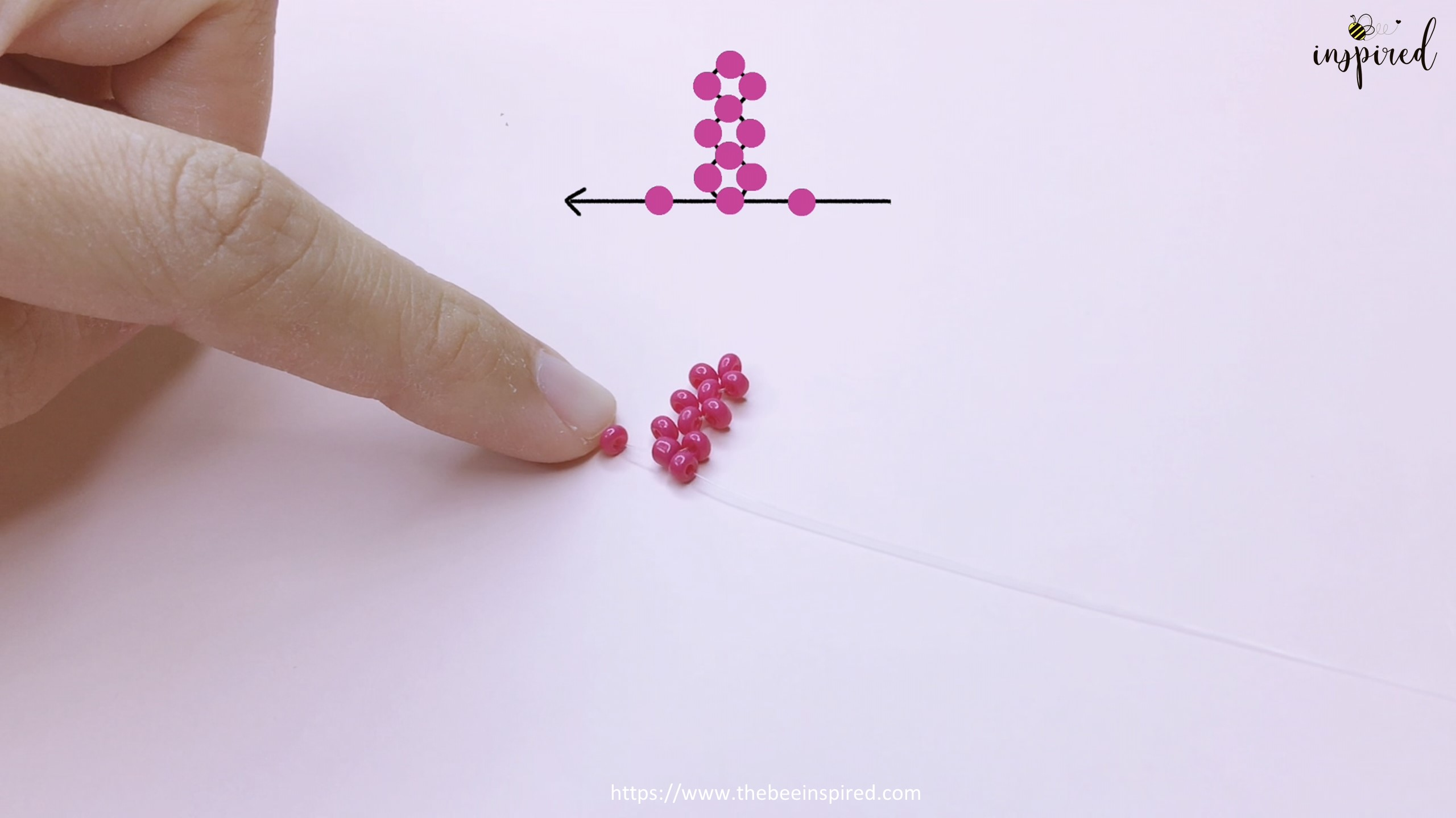 How to Make Cherry Beaded Ring_15