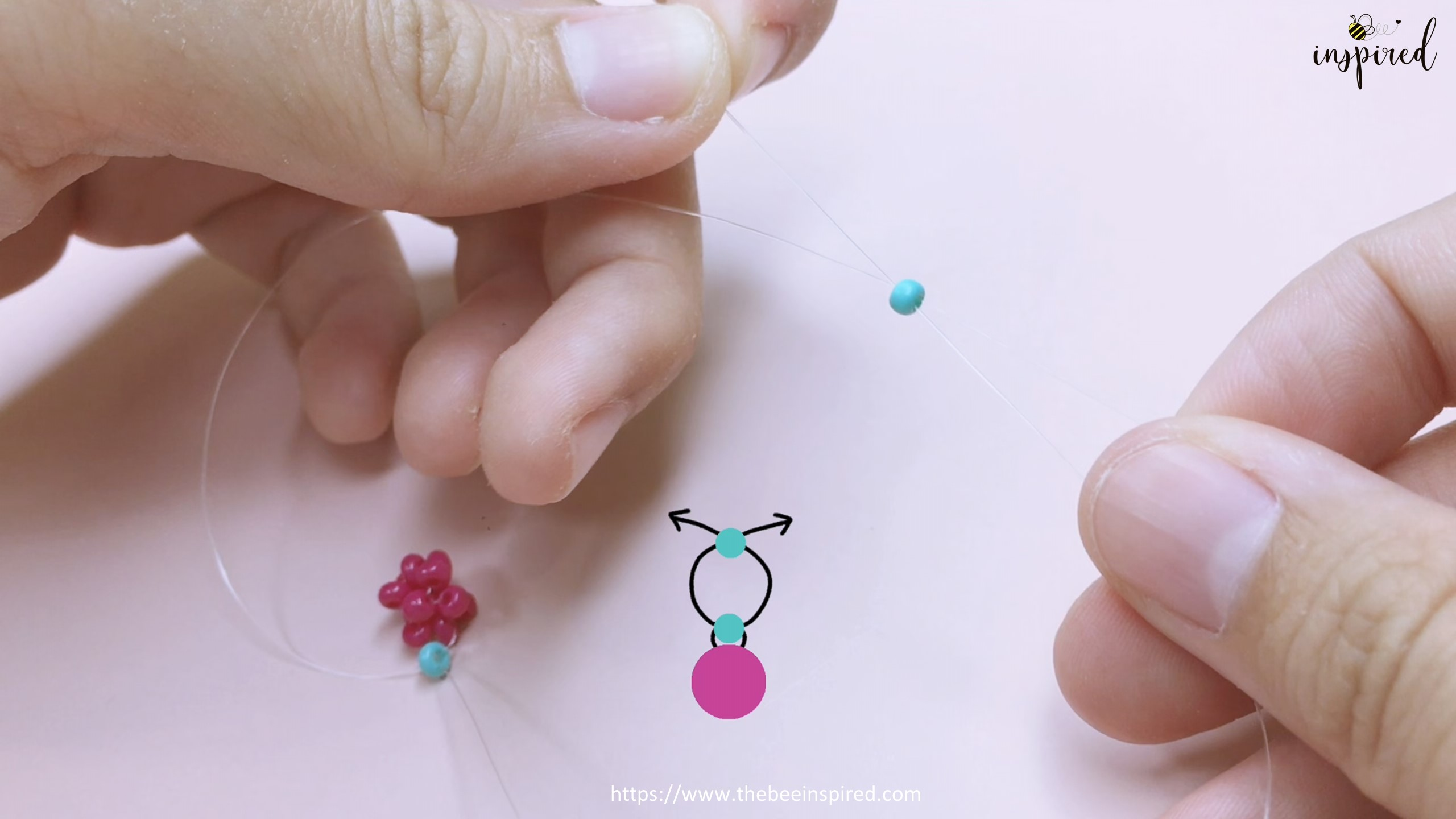 How to Make Cherry Beaded Ring_20