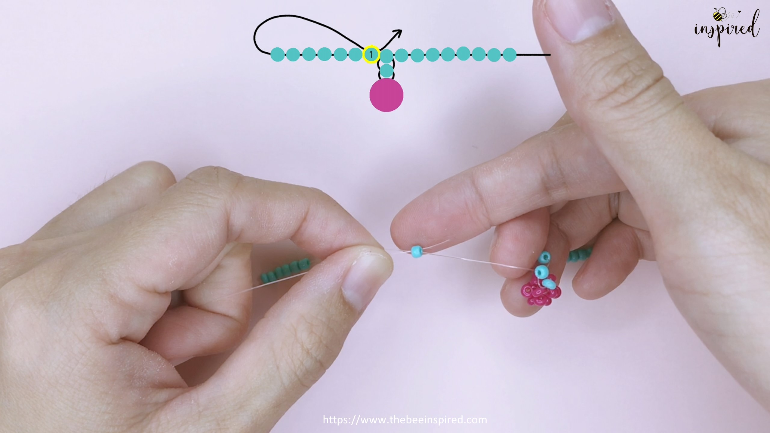 How to Make Cherry Beaded Ring_23