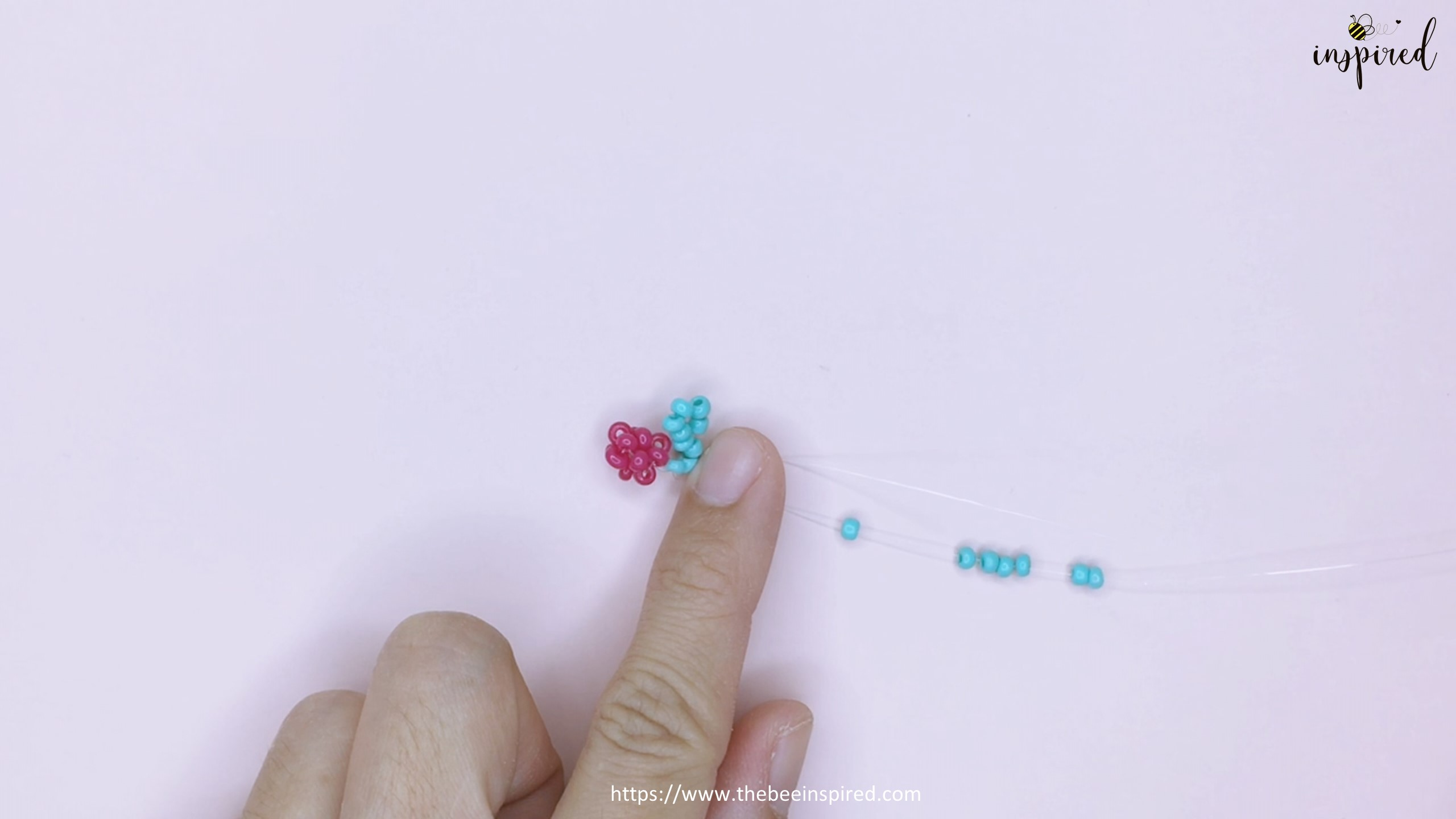 How to Make Cherry Beaded Ring_24