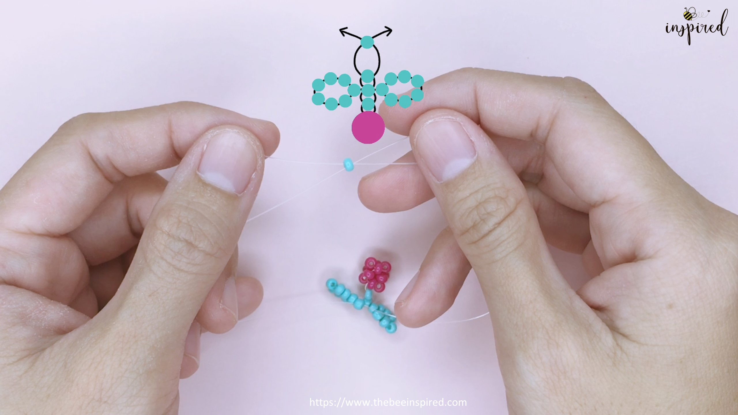How to Make Cherry Beaded Ring_28