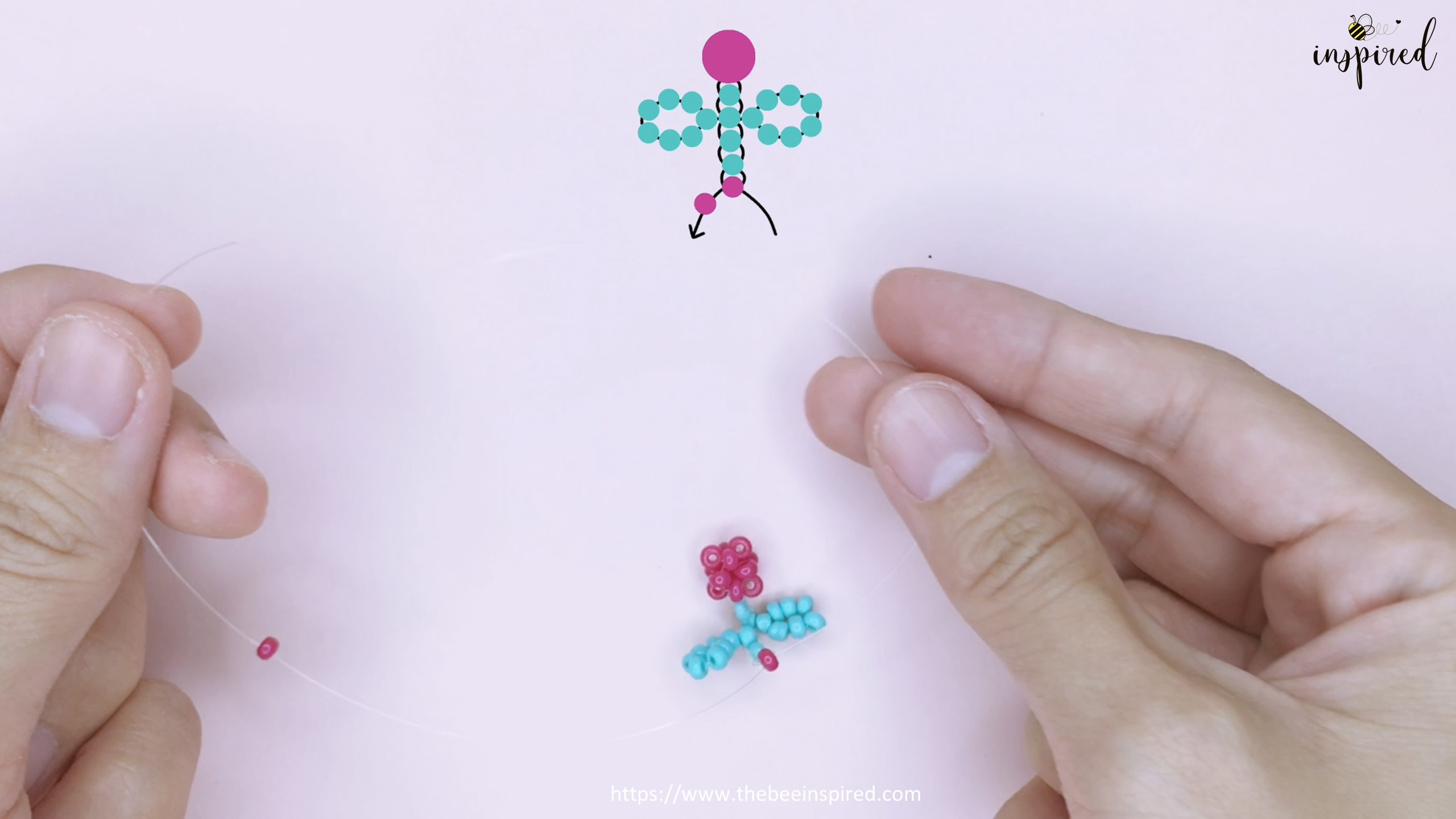 How to Make Cherry Beaded Ring_30