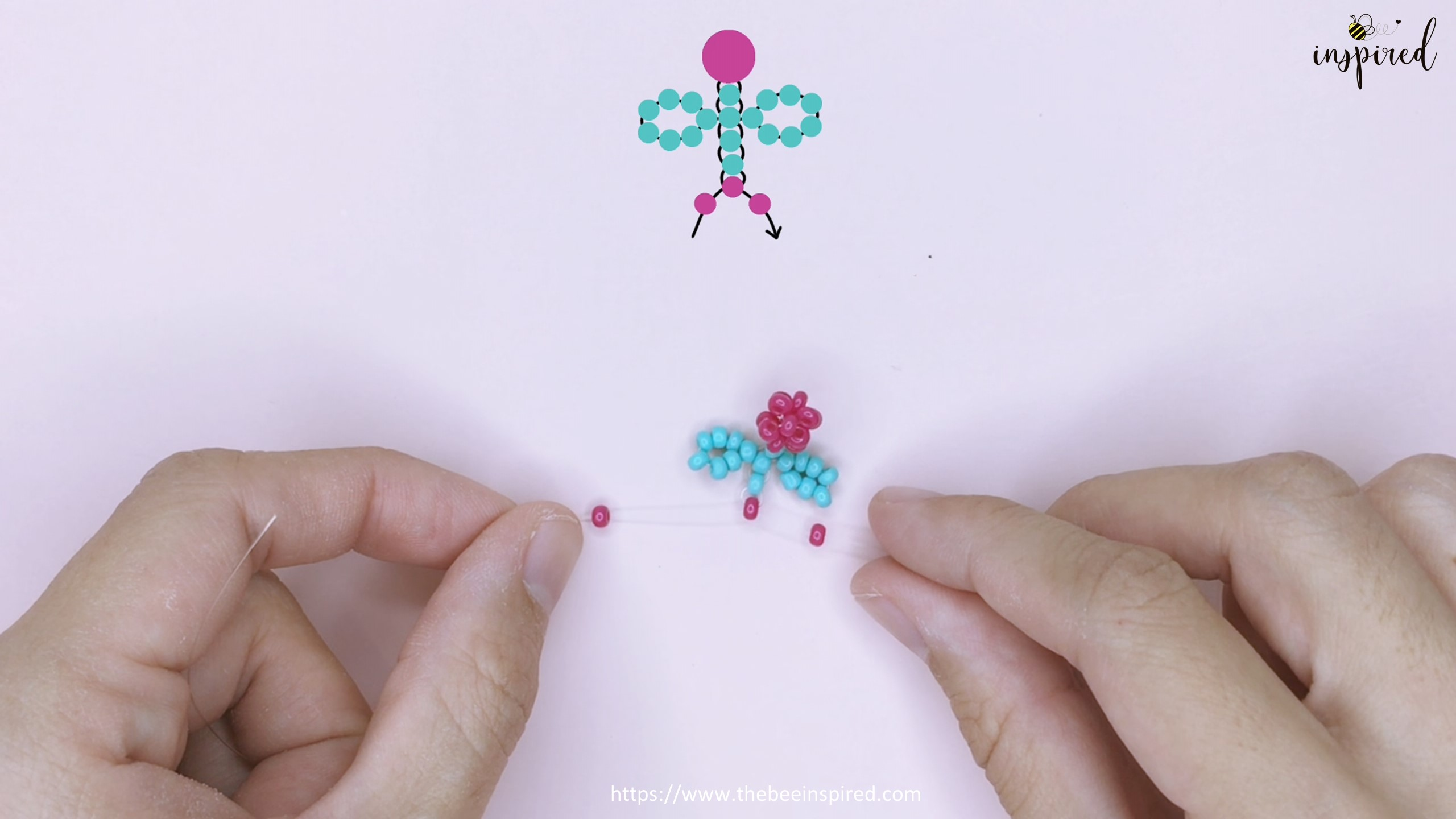 How to Make Cherry Beaded Ring_31