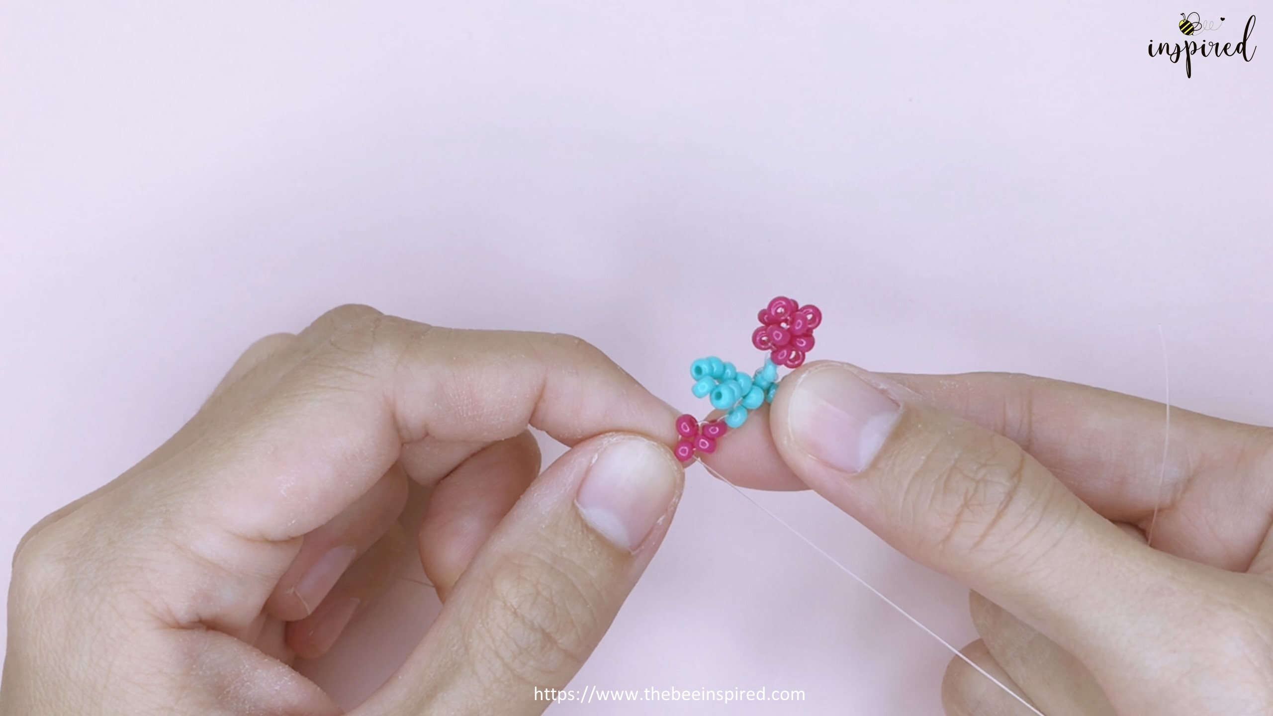How to Make Cherry Beaded Ring_33