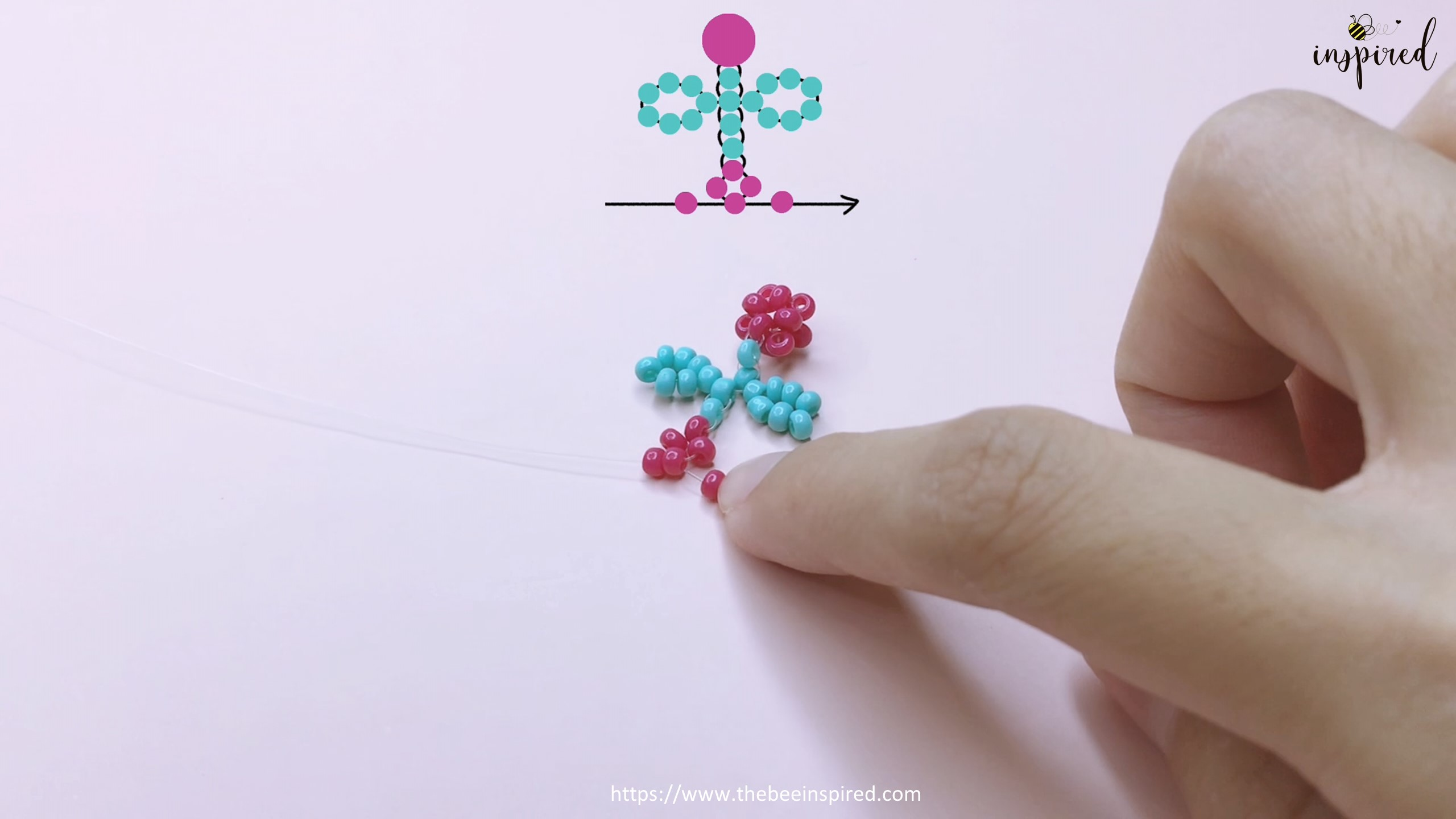 How to Make Cherry Beaded Ring_35