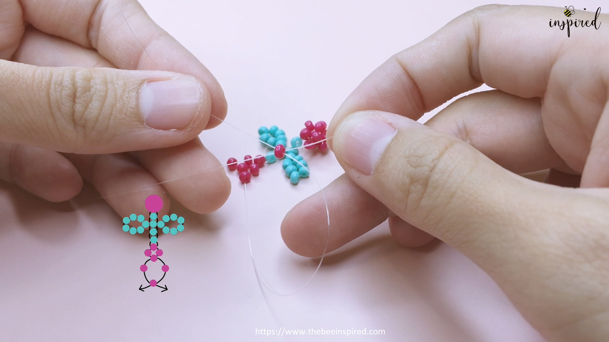 How to Make Cherry Beaded Ring_36