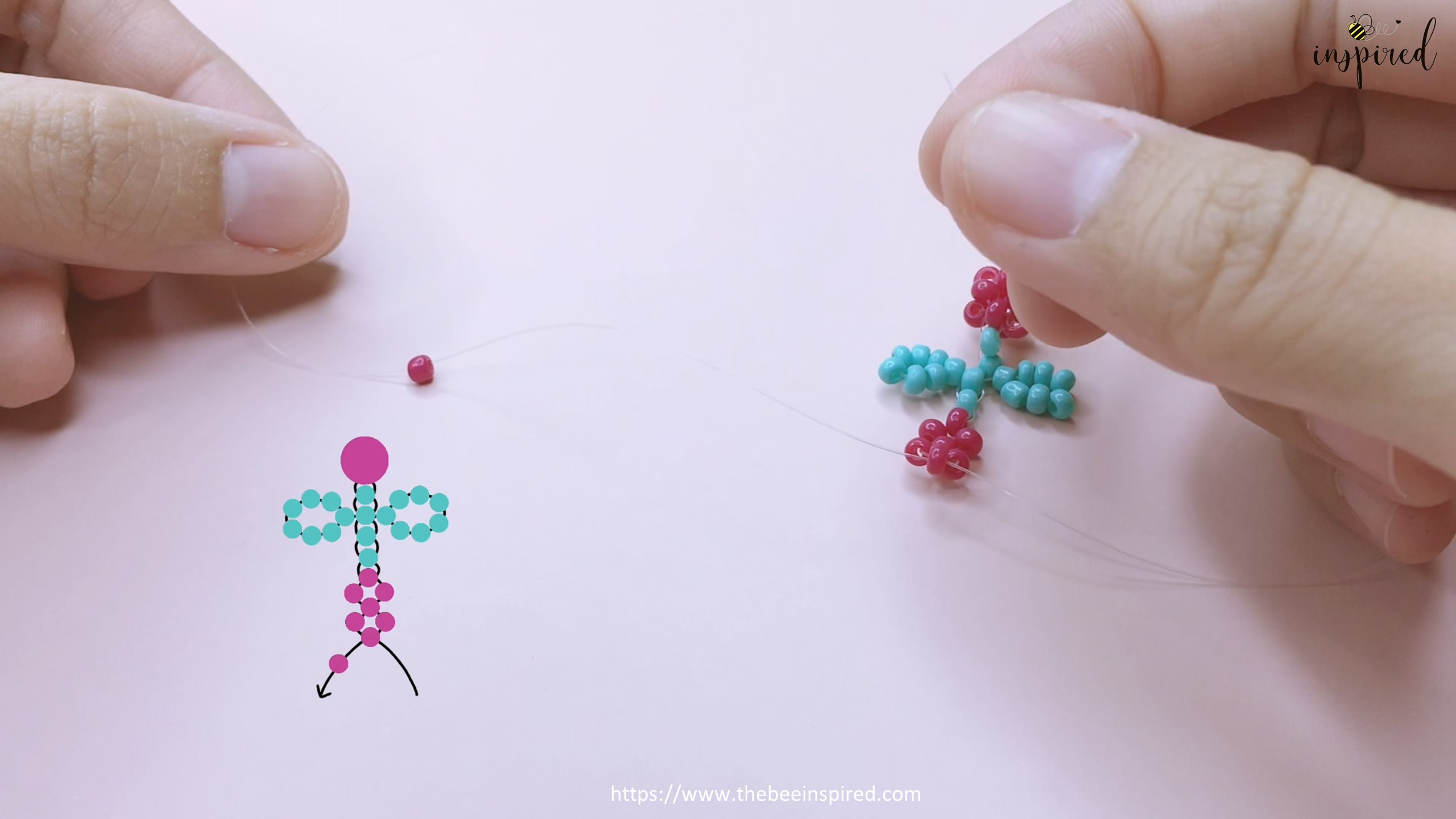 How to Make Cherry Beaded Ring_37