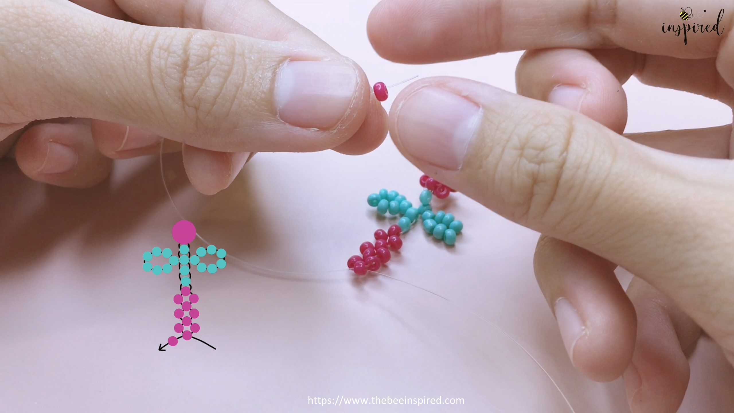 How to Make Cherry Beaded Ring_40