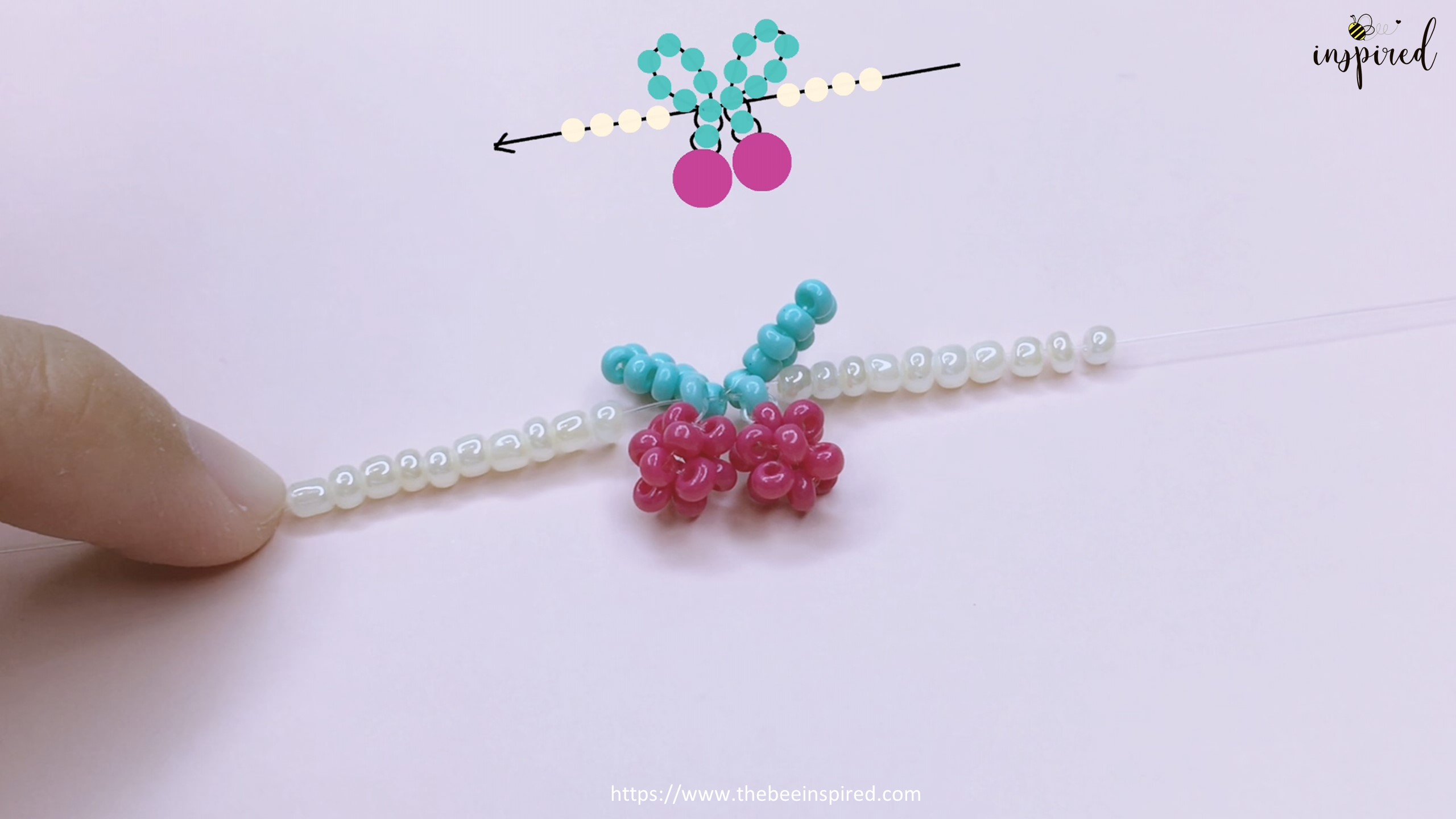 How to Make Cherry Beaded Ring_49