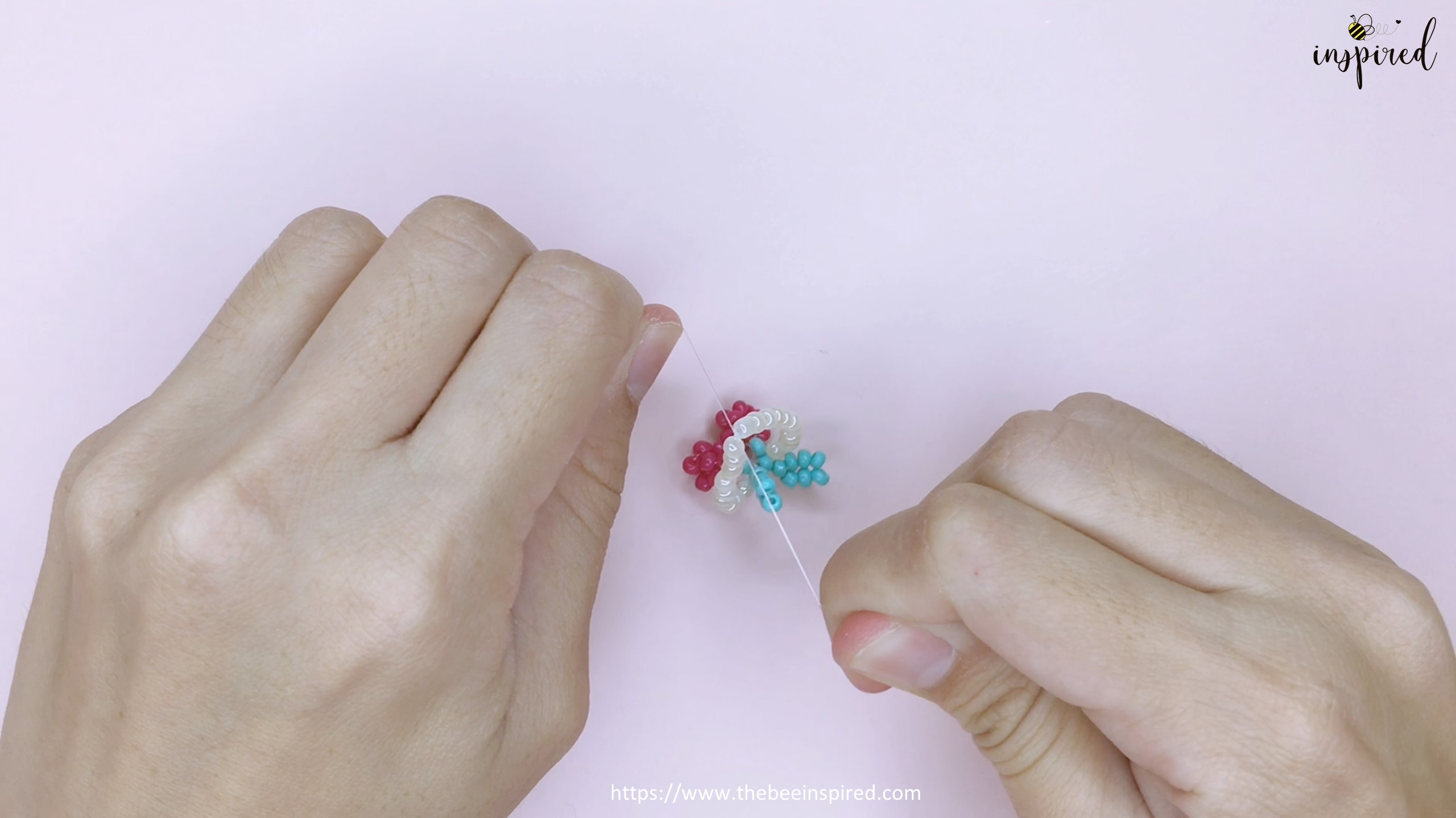 How to Make Cherry Beaded Ring_50