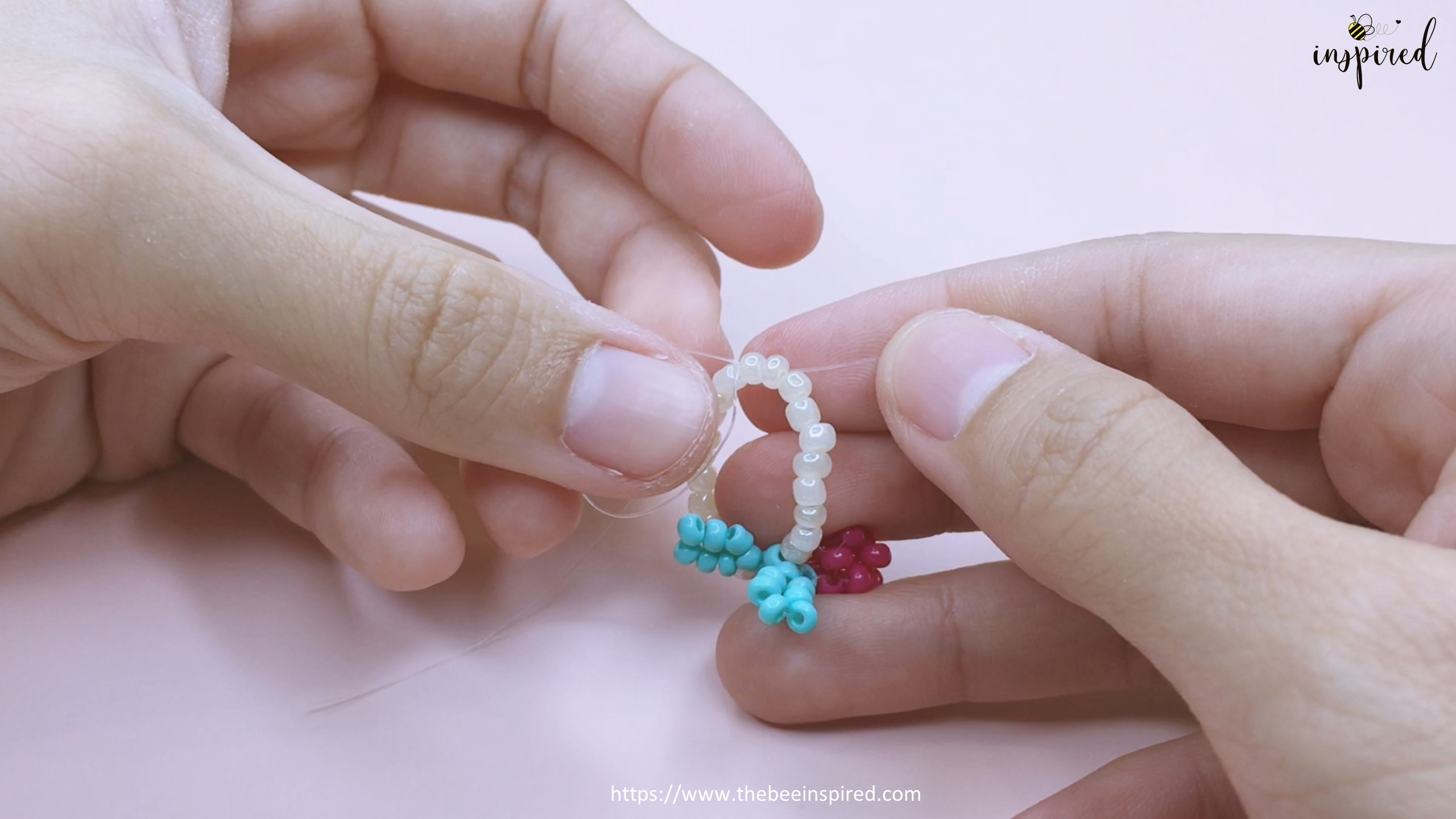 How to Make Cherry Beaded Ring_52