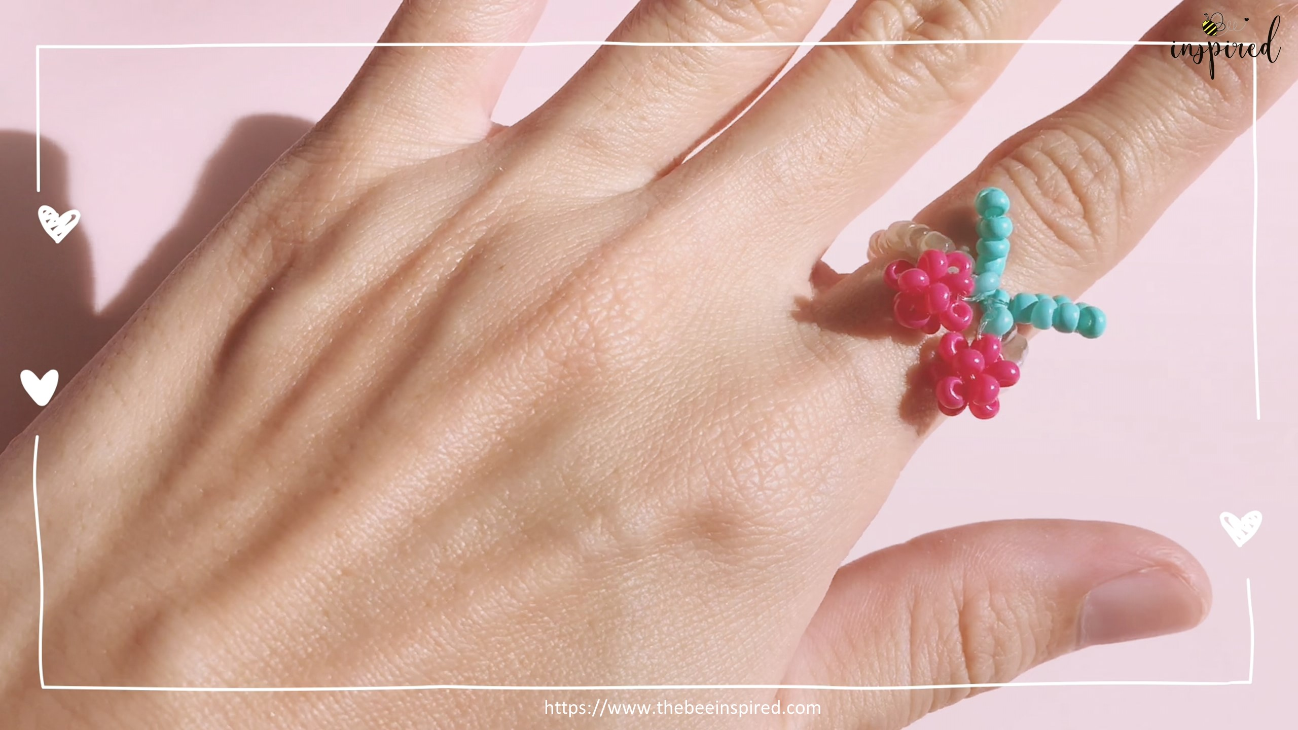 How to Make Cherry Beaded Ring_54