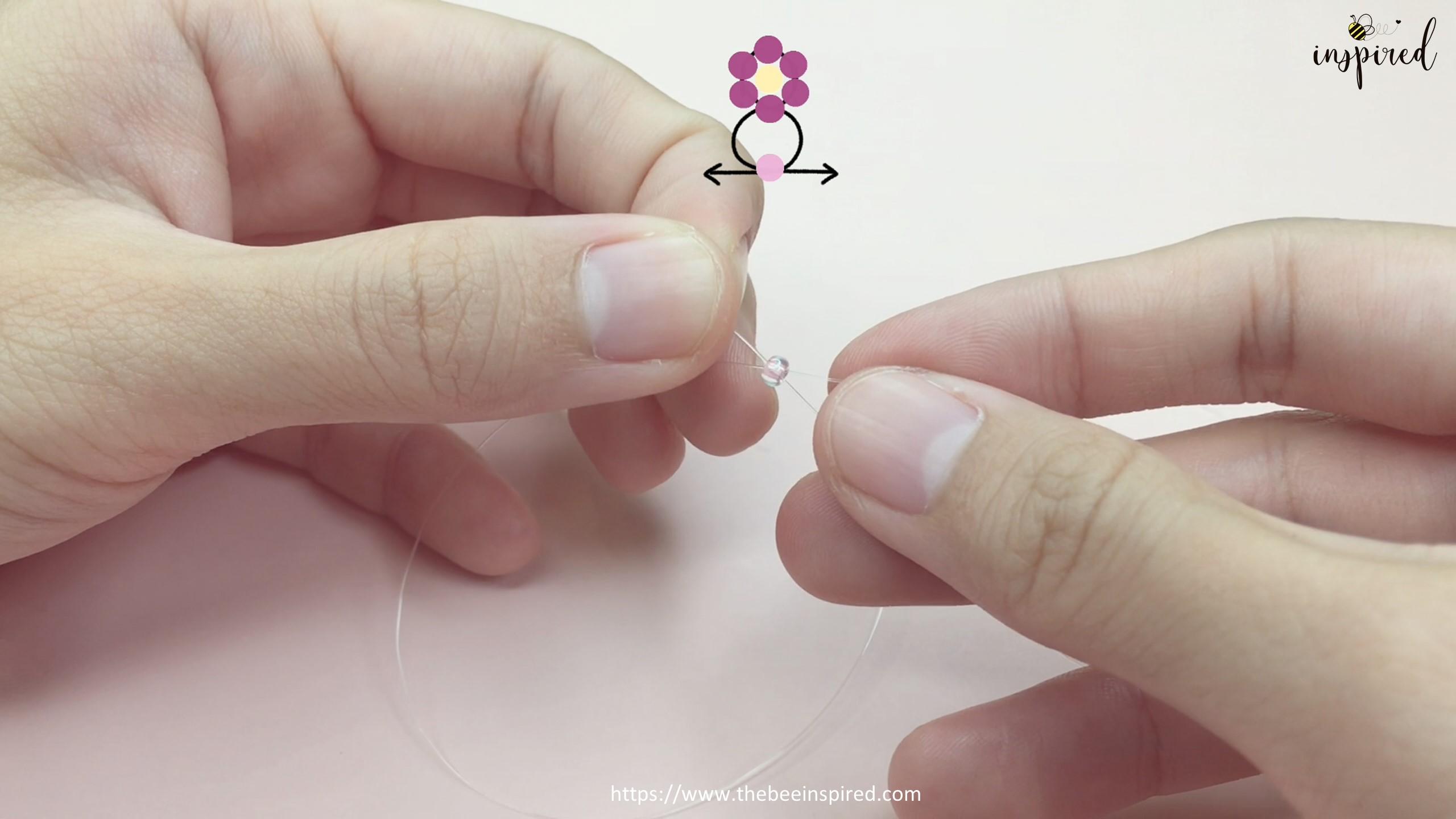 How to Make Daisy Flower Beaded Ring_11